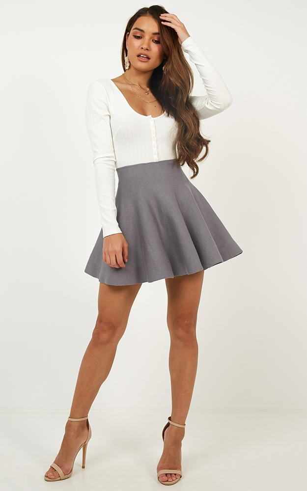 Real Deal skirt in grey - 20 (XXXXL), Grey, hi-res image number null