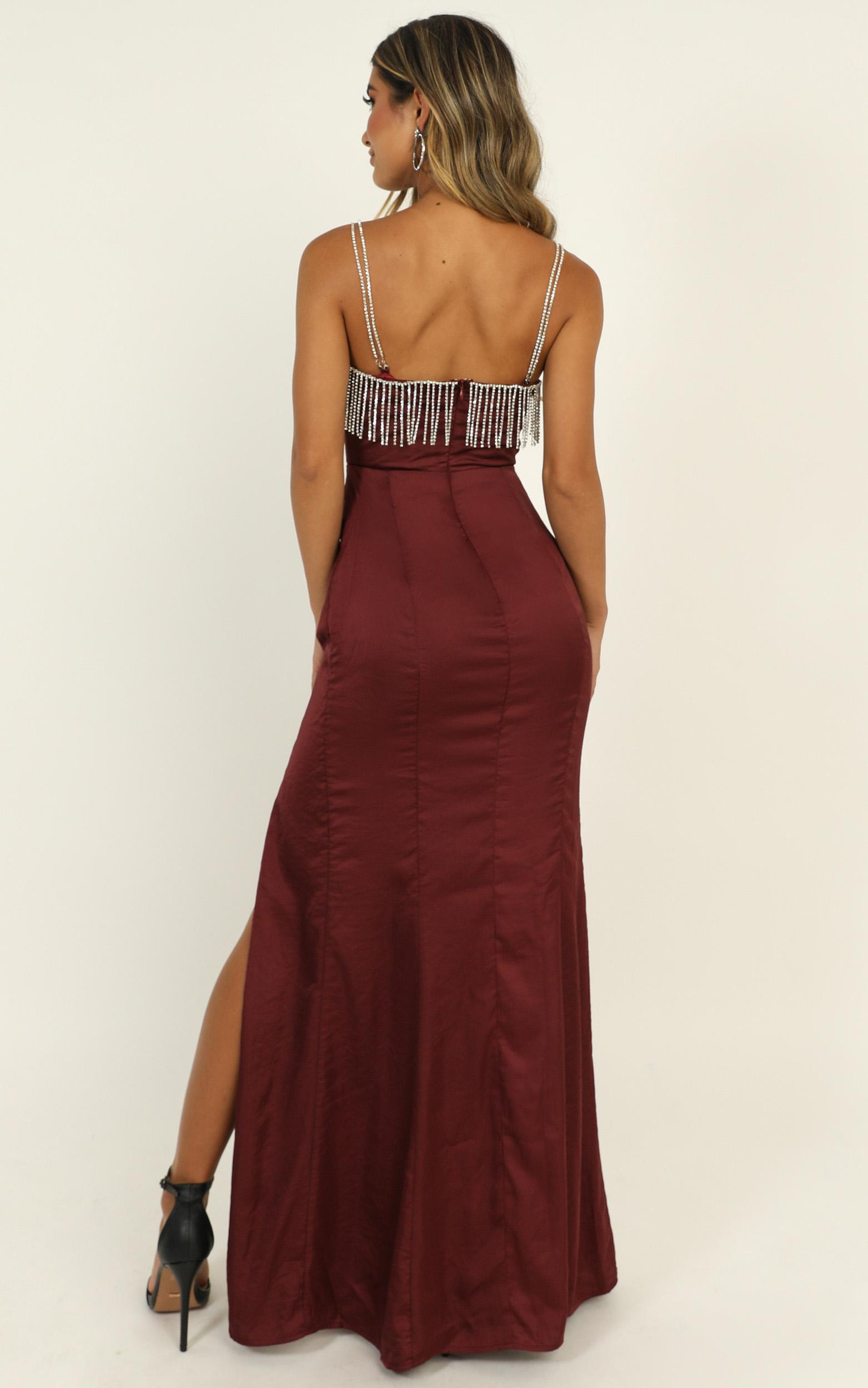 Absolutely Flawless Dress in wine satin - 14 (XL), Wine, hi-res image number null