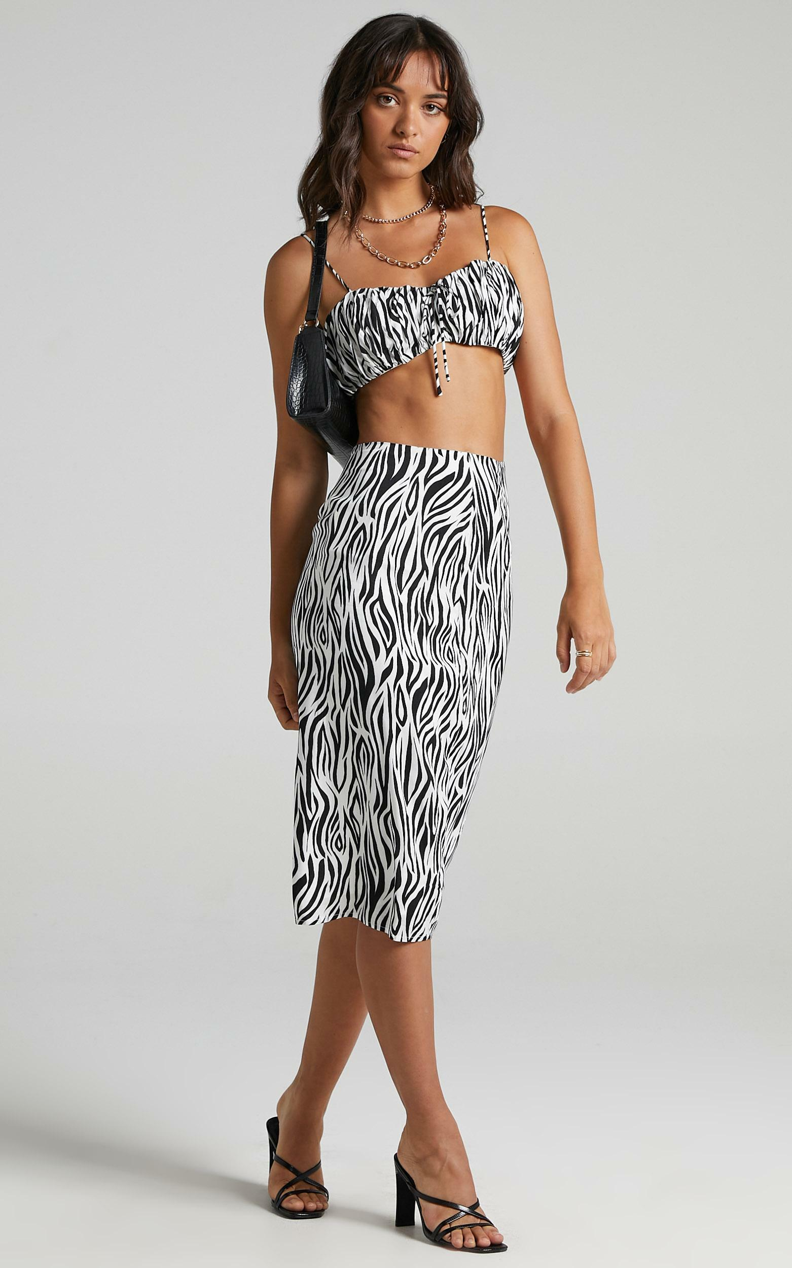 Uberta Two Piece Set in Monochrome Zebra - 08, MLT1, hi-res image number null