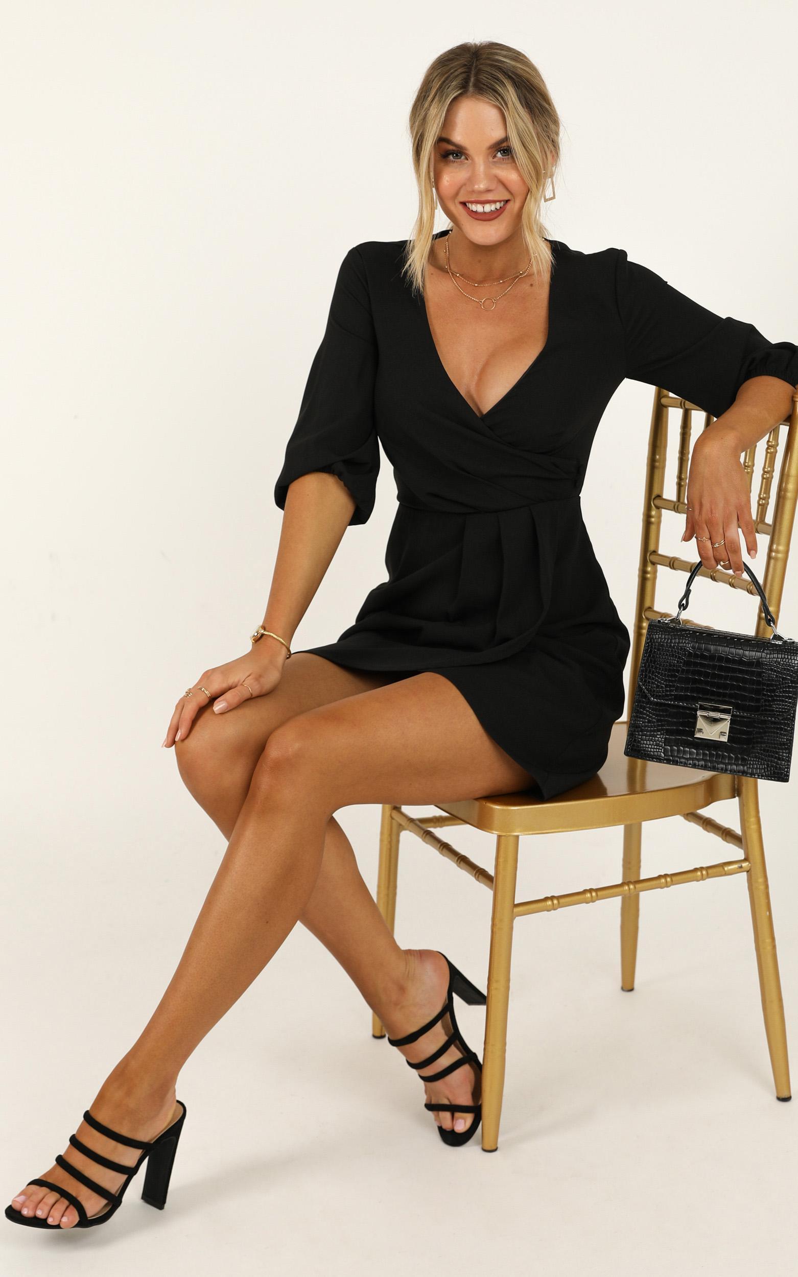 Talking Back Dress in black - 20 (XXXXL), Black, hi-res image number null