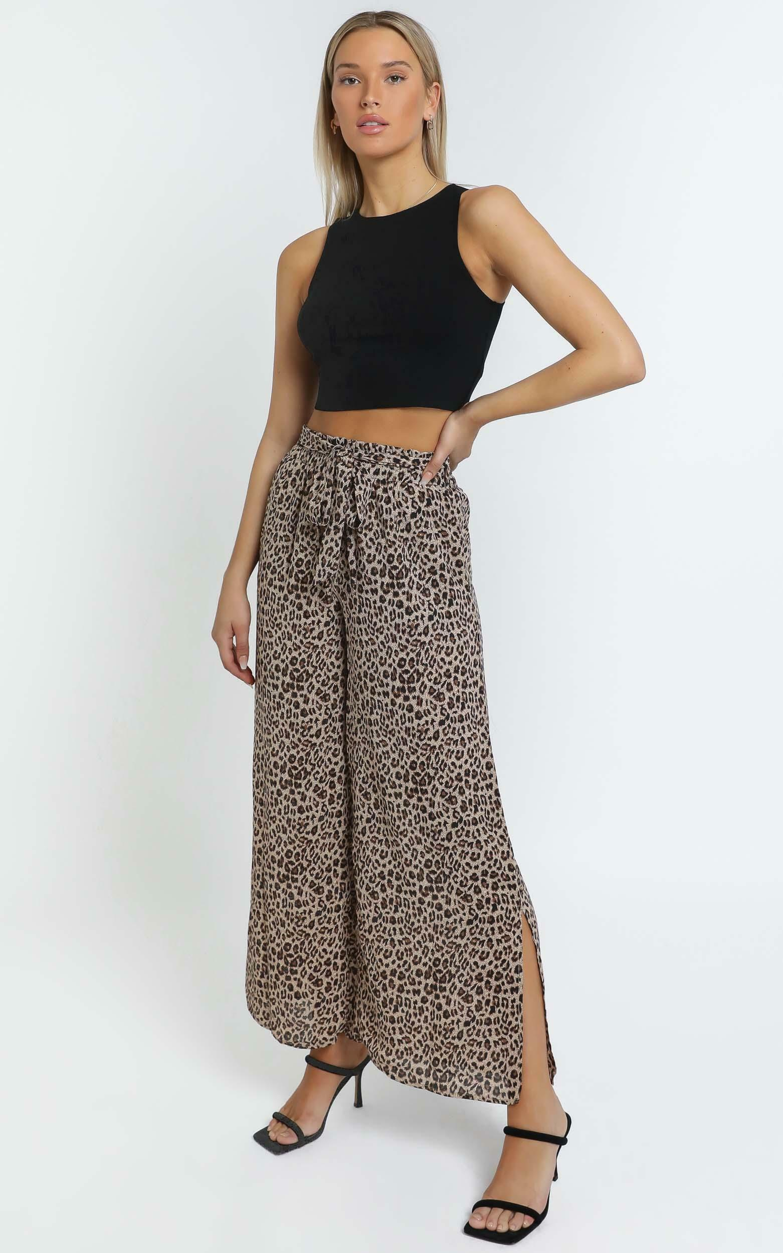 Keeva Pants in Leopard Print - 14 (XL), Brown, hi-res image number null