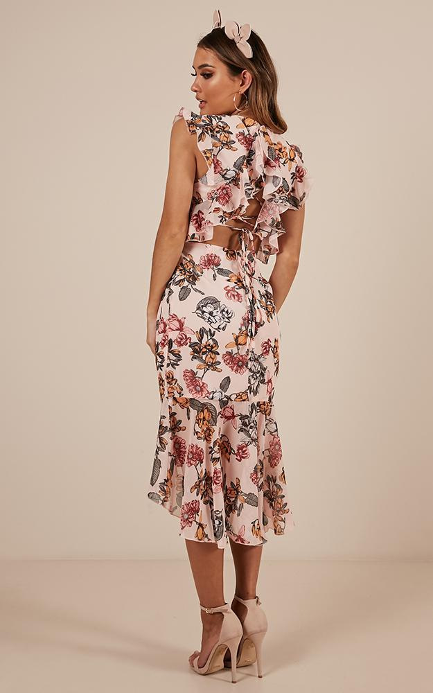 Tighten The Strings Dress in  Blush Floral - 12 (L), PNK1, hi-res image number null
