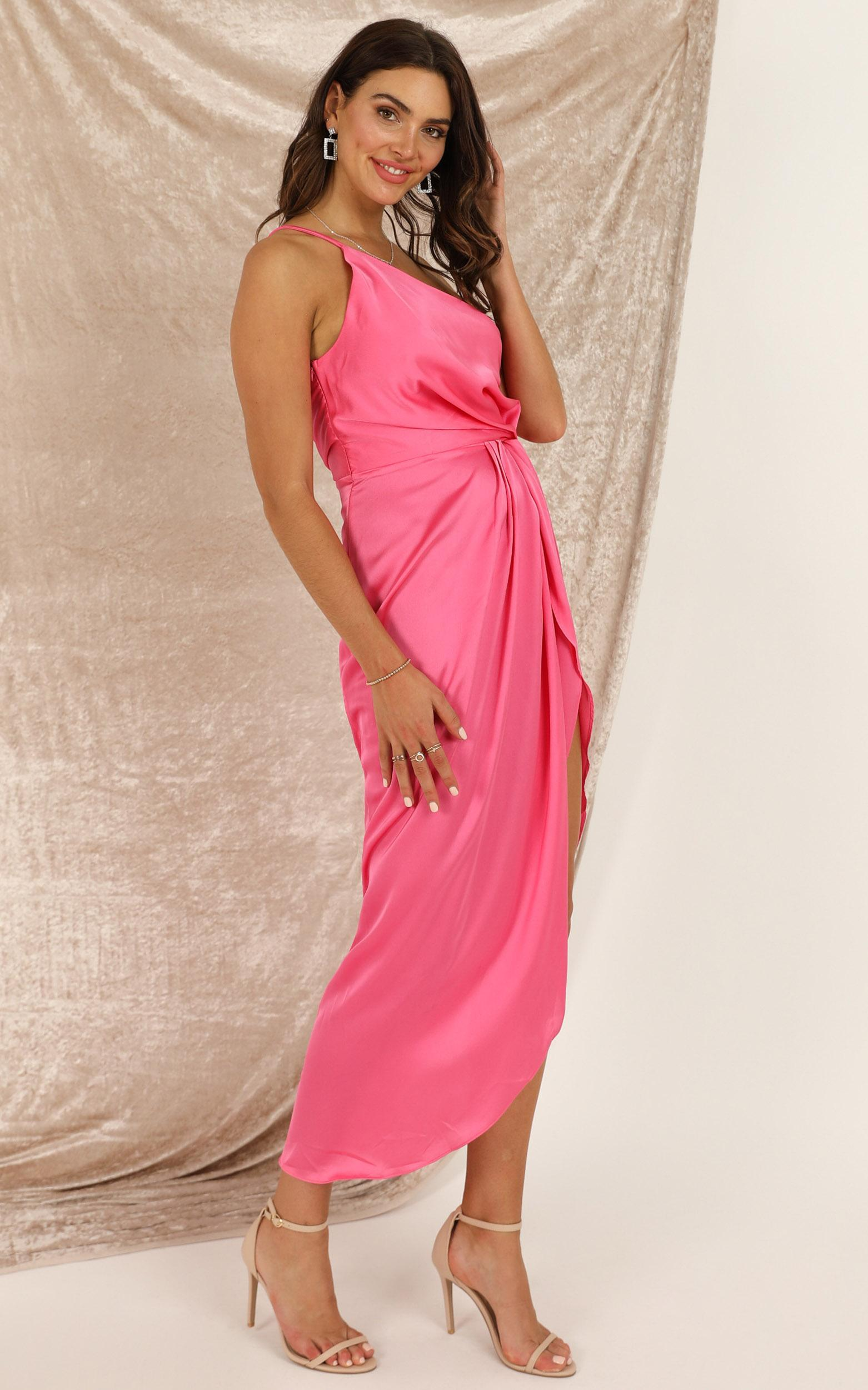 Not Thinking dress in hot pink - 16 (XXL), Pink, hi-res image number null