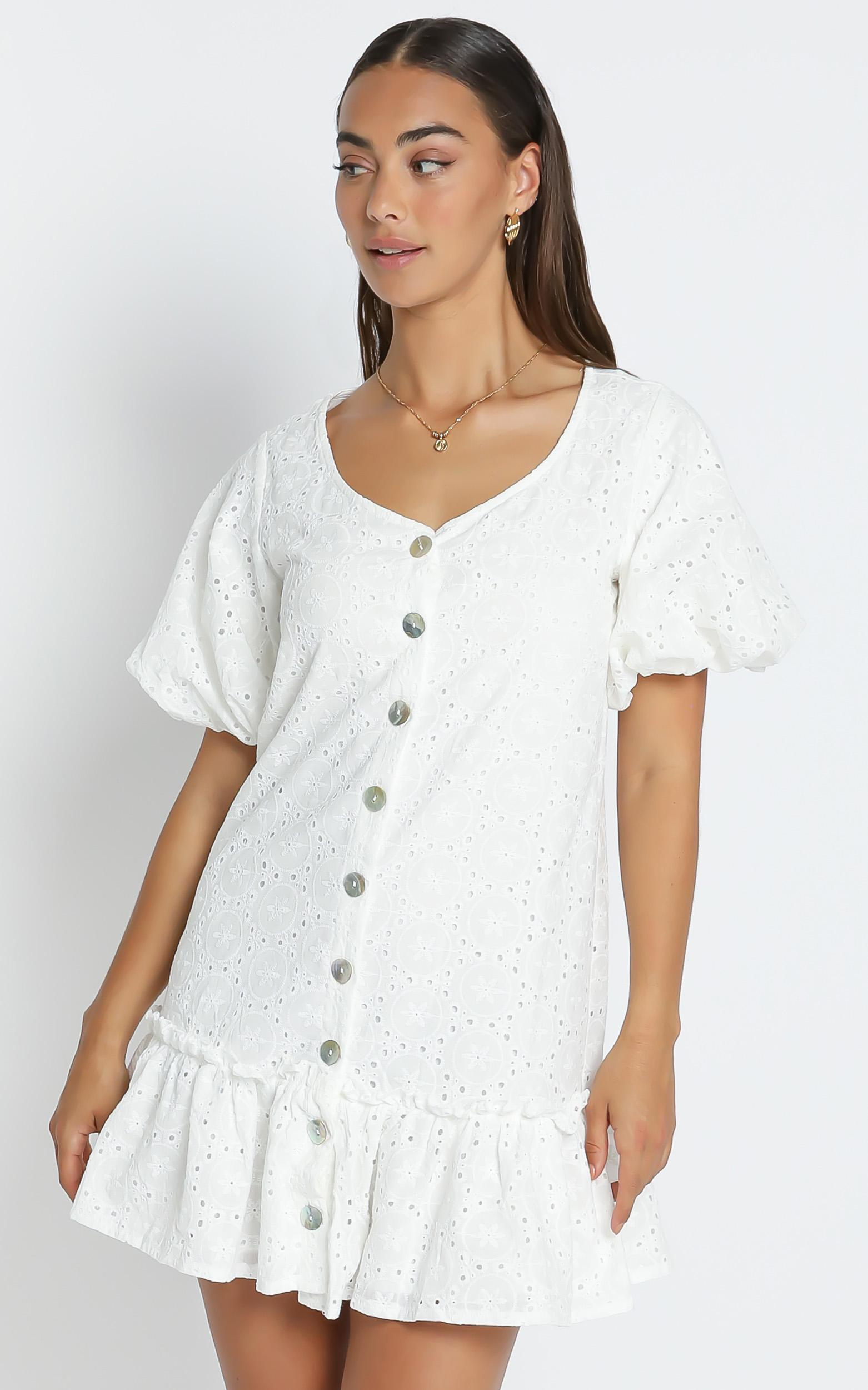 Montana Dress in White - 6 (XS), White, hi-res image number null