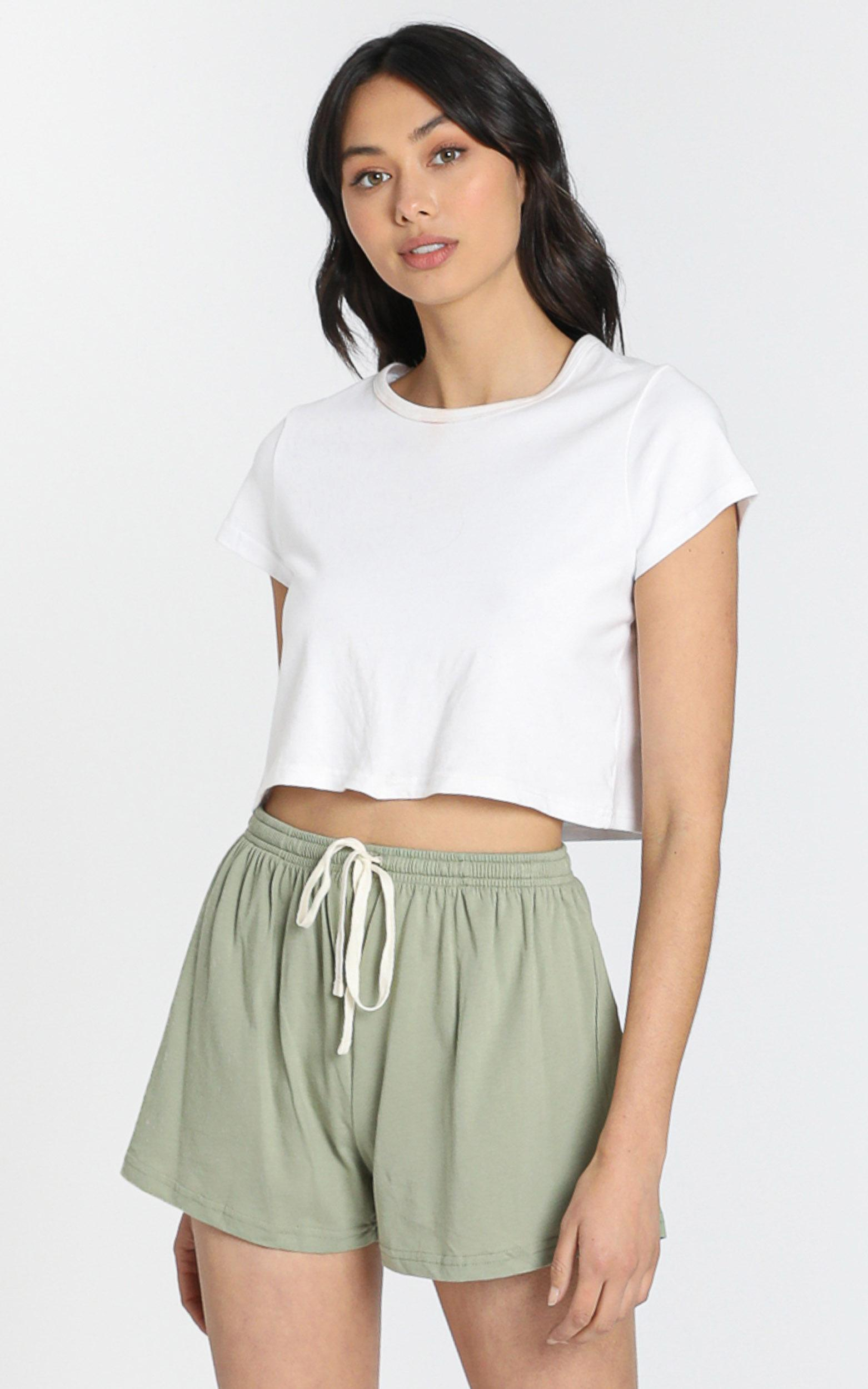 AS Colour - Jersey Shorts in Avocado - XS, Khaki, hi-res image number null