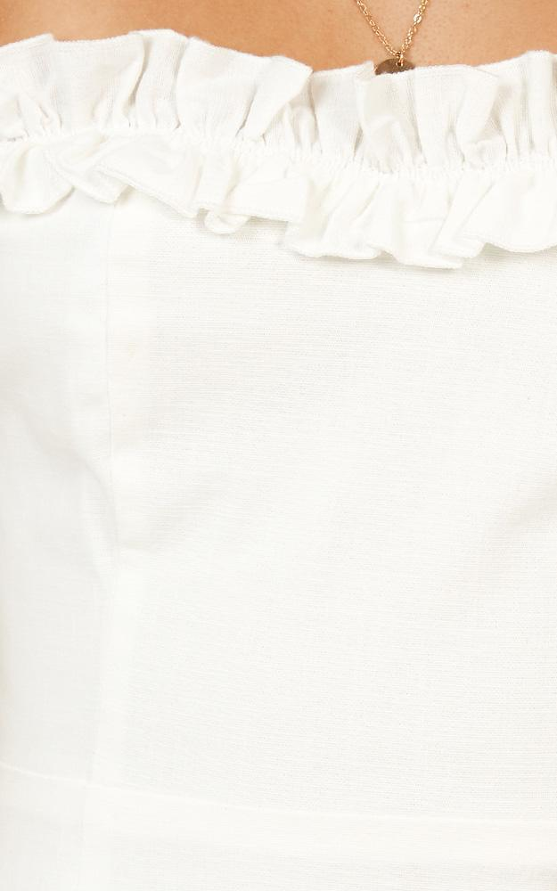Days Of Summer dress in white linen look - 6 (XS), White, hi-res image number null