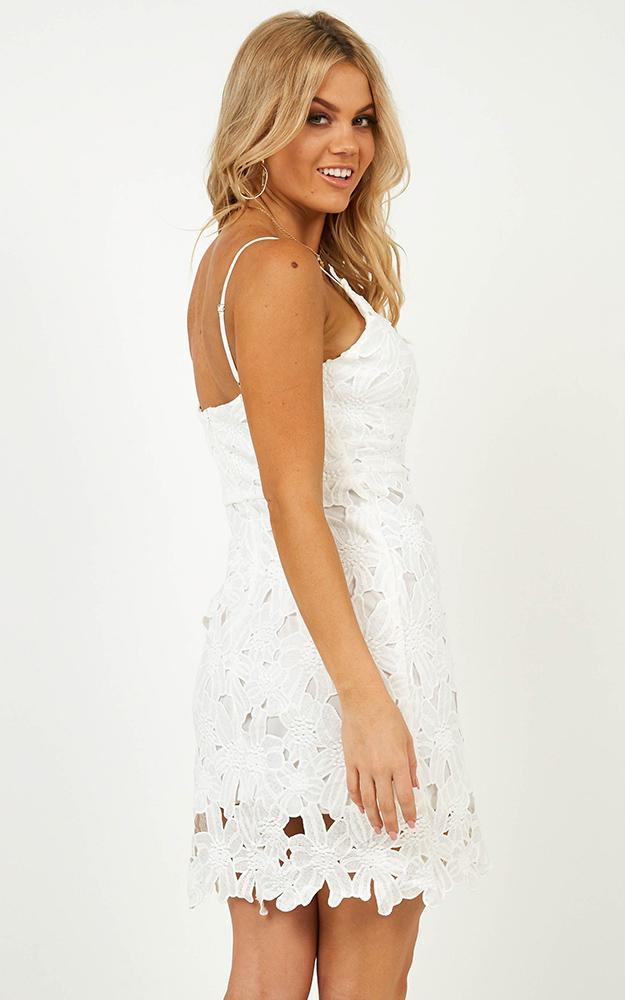 She Loves You Dress in white crochet - 14 (XL), White, hi-res image number null