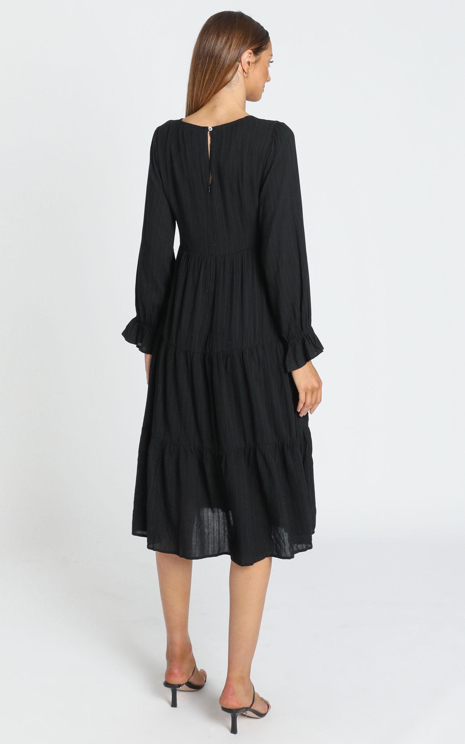 Evanna Dress in Black - 6 (XS), Black, hi-res image number null