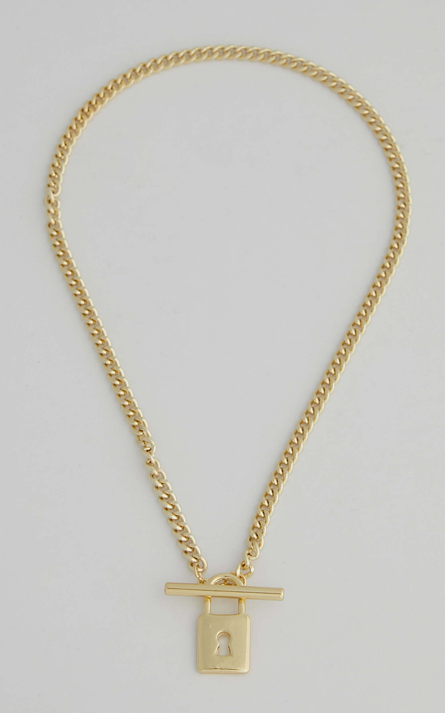 Darby Lock Necklace in Gold - NoSize, GLD1, hi-res image number null