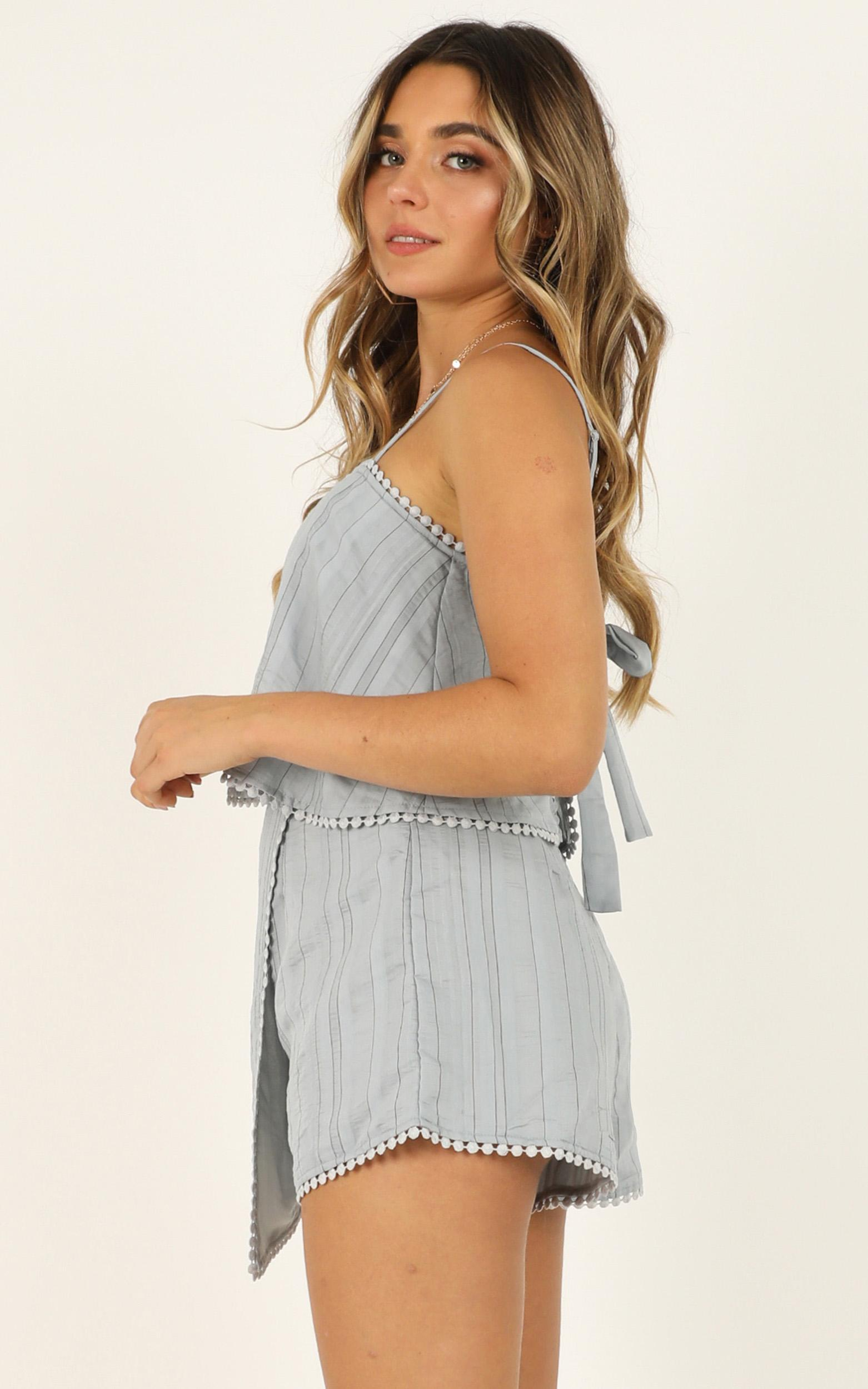 Say It To Me Now playsuit in blue - 12 (L), Blue, hi-res image number null
