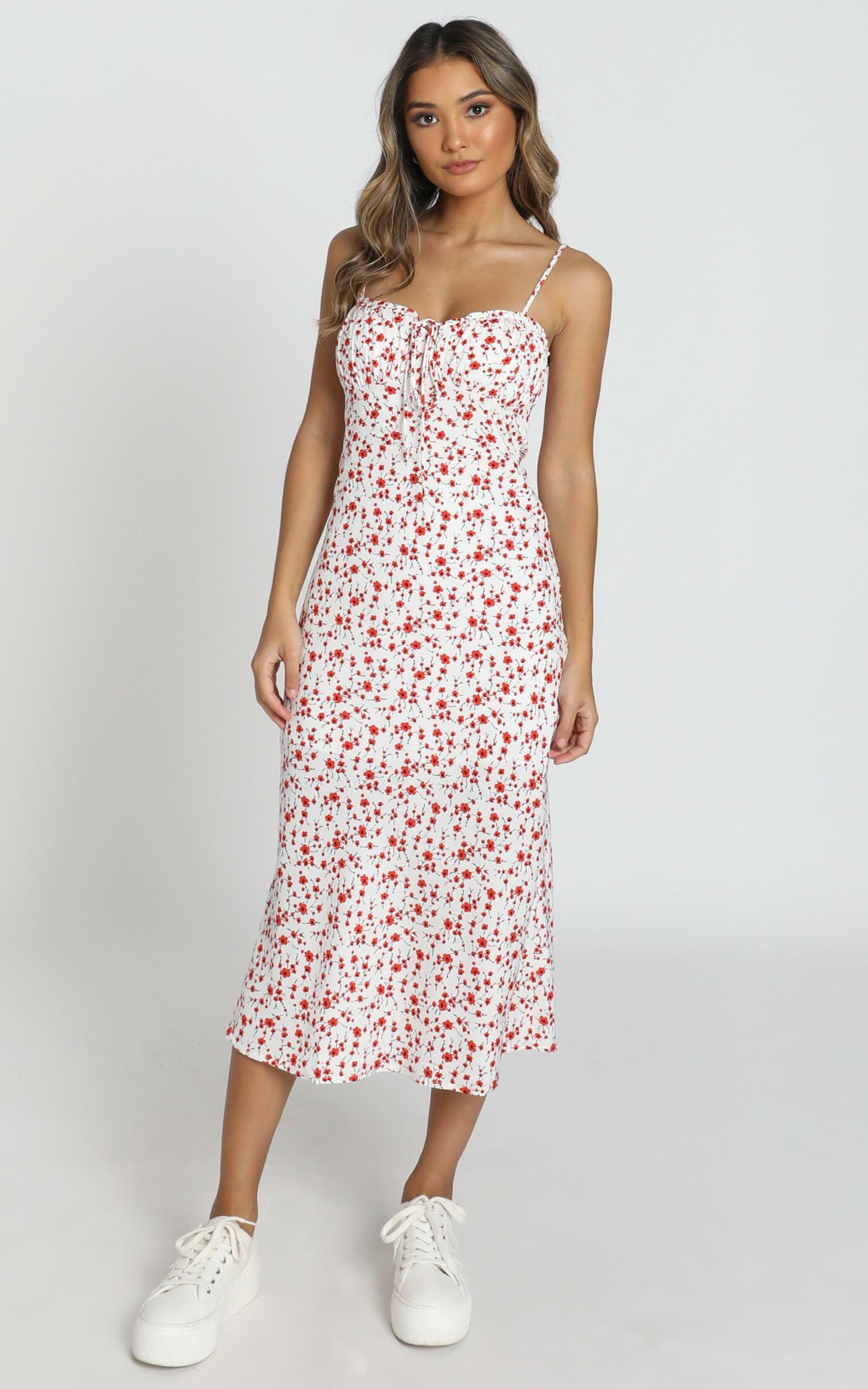 Rushing Back Dress in Red Floral - 06, RED1, hi-res image number null
