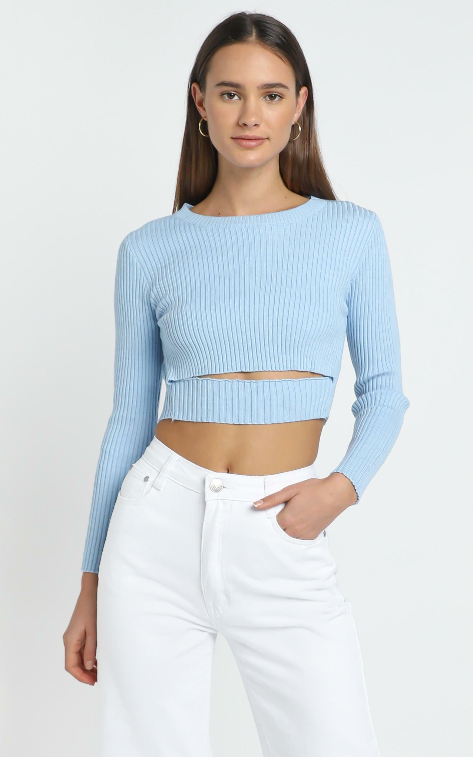 Pernille Top in Baby Blue - L, BLU1, hi-res image number null
