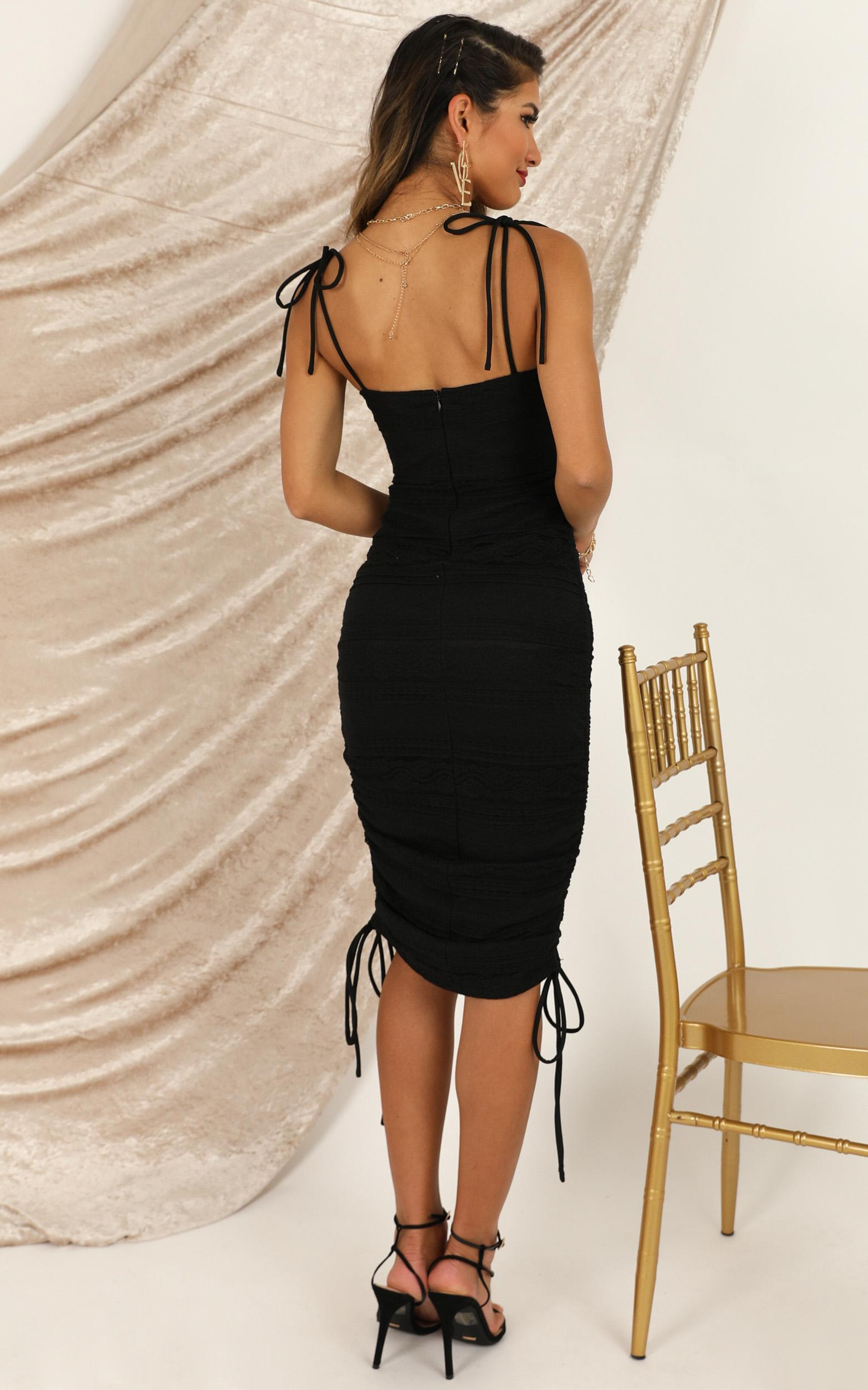Dont Slip Away Dress In black lace - 20 (XXXXL), Black, hi-res image number null