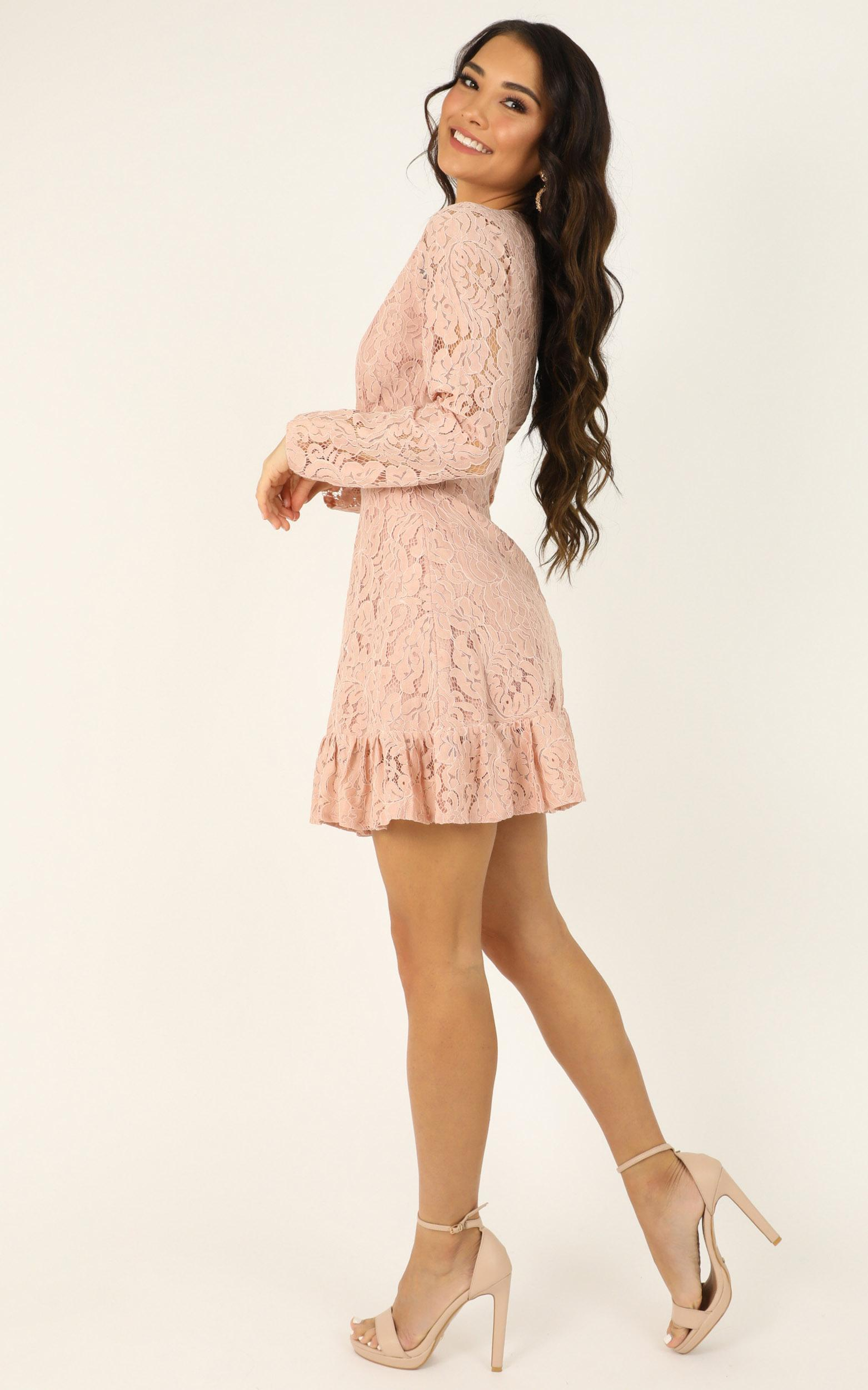 Love and Leave Dress in blush lace - 20 (XXXXL), Blush, hi-res image number null