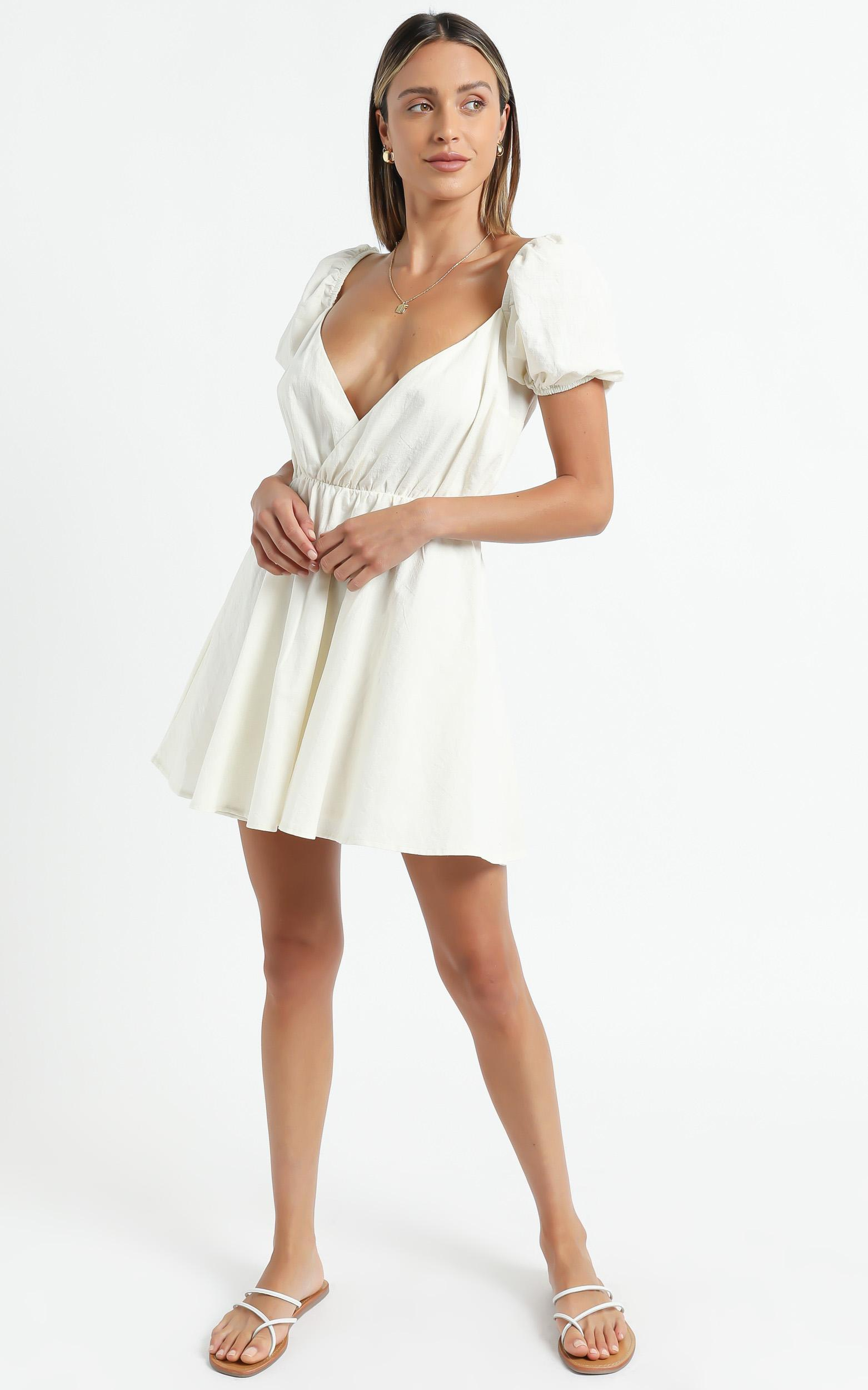 Kamali Dress in Off White, White, hi-res image number null