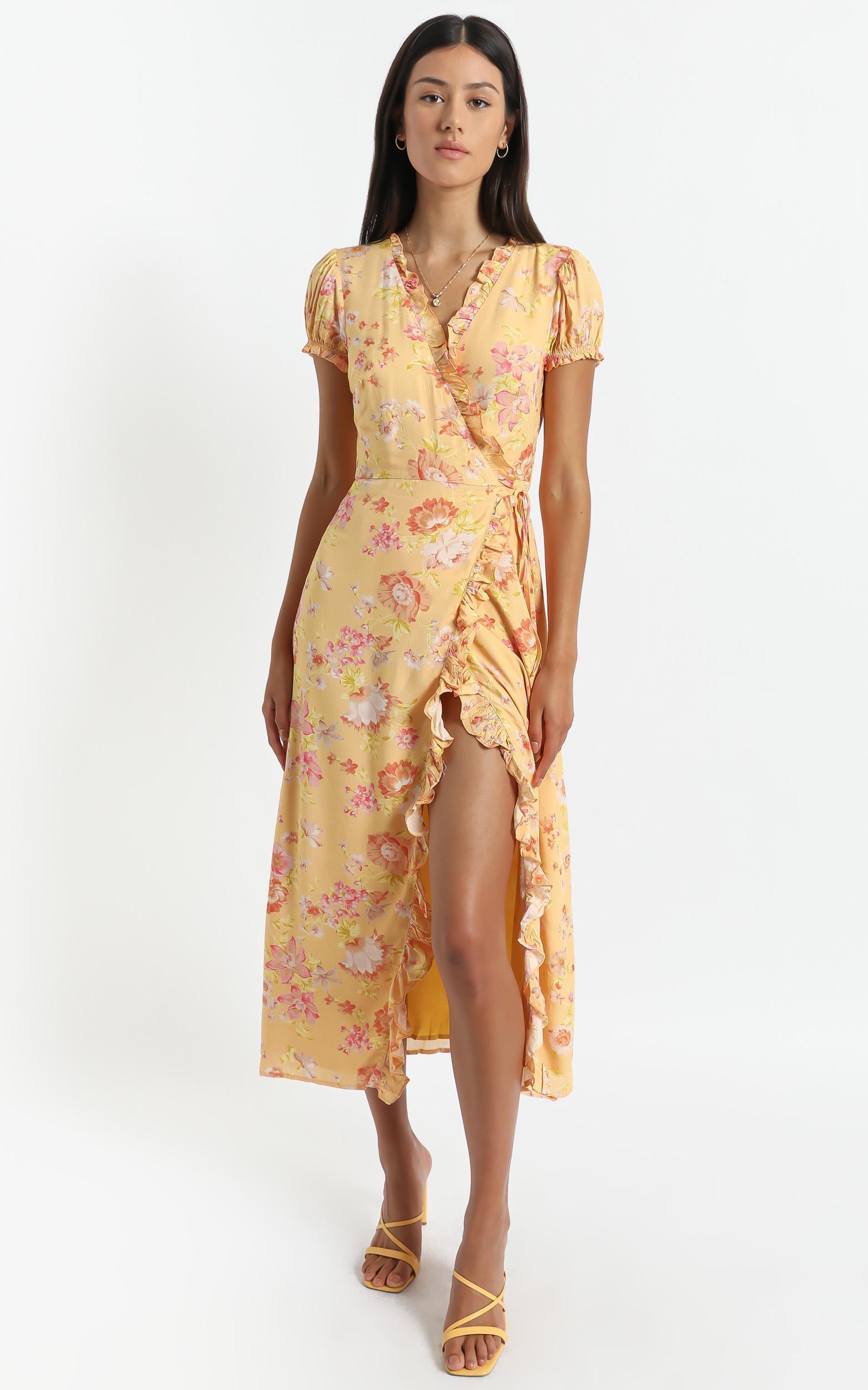 Alina Dress in Tuscan Spring - 6 (XS), Orange, hi-res image number null