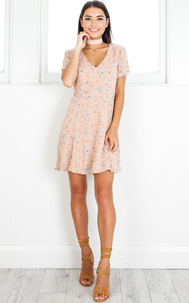Casual Party dress in blush floral - 6 (XS), BLU1, hi-res image number null