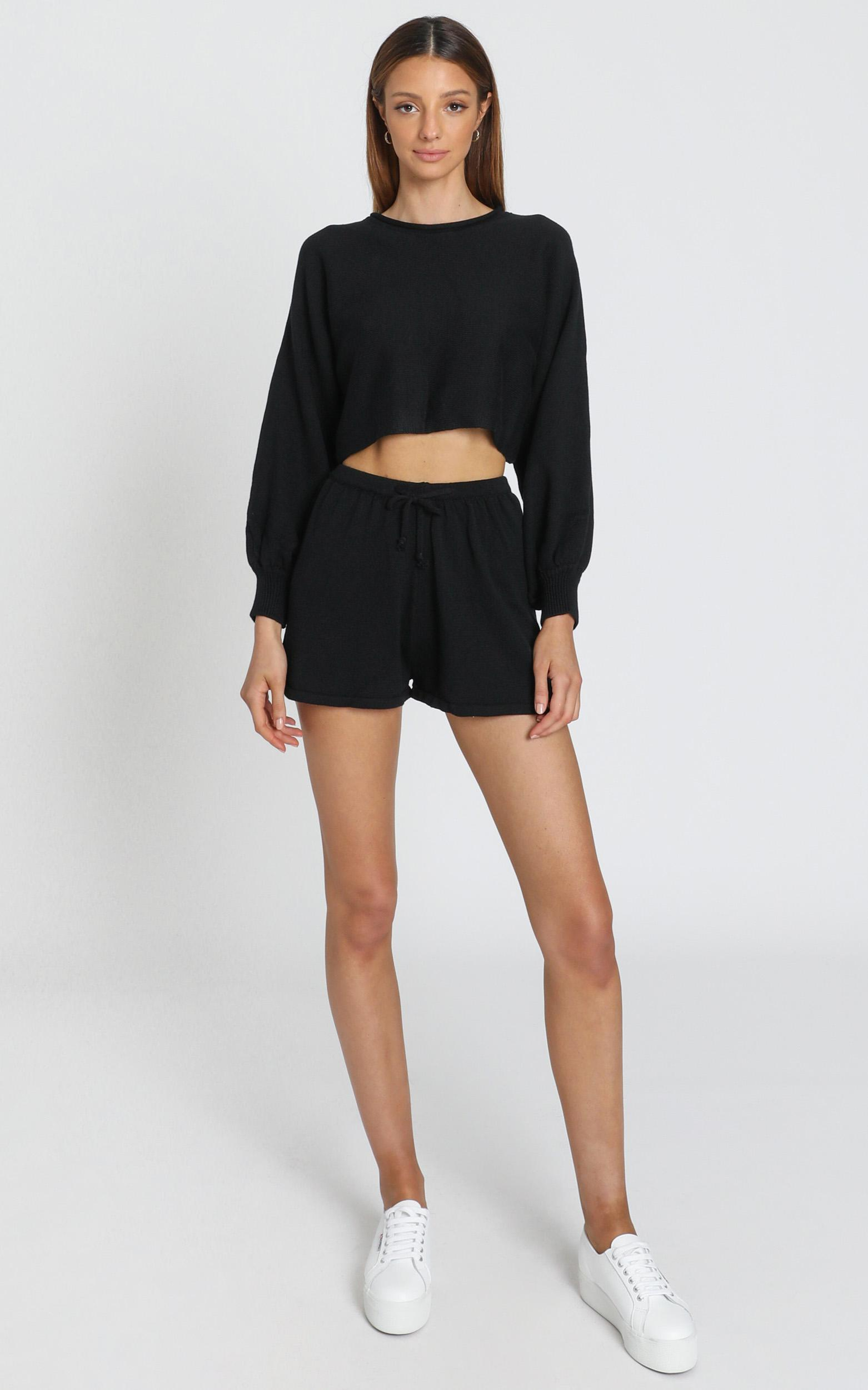 Hartley Knitted Jumper In Black - 8 (S), Black, hi-res image number null