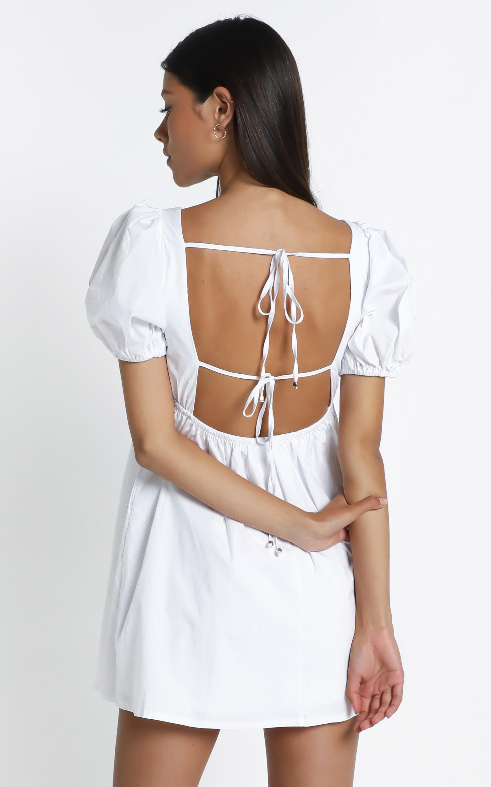 Brene Dress in White - 6 (XS), White, hi-res image number null