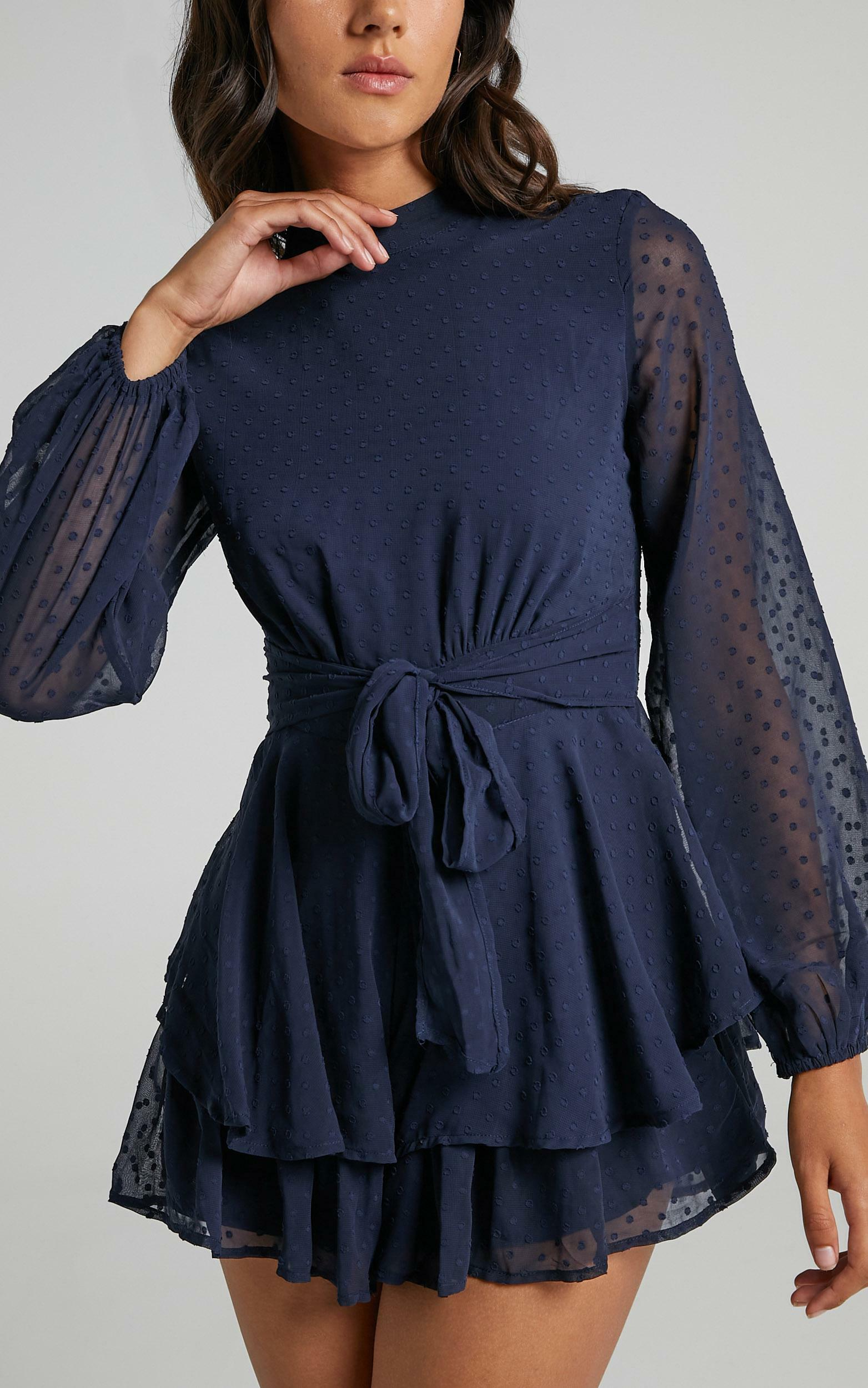 Bottom Of Your Heart Playsuit in Navy - 04, NVY5, hi-res image number null