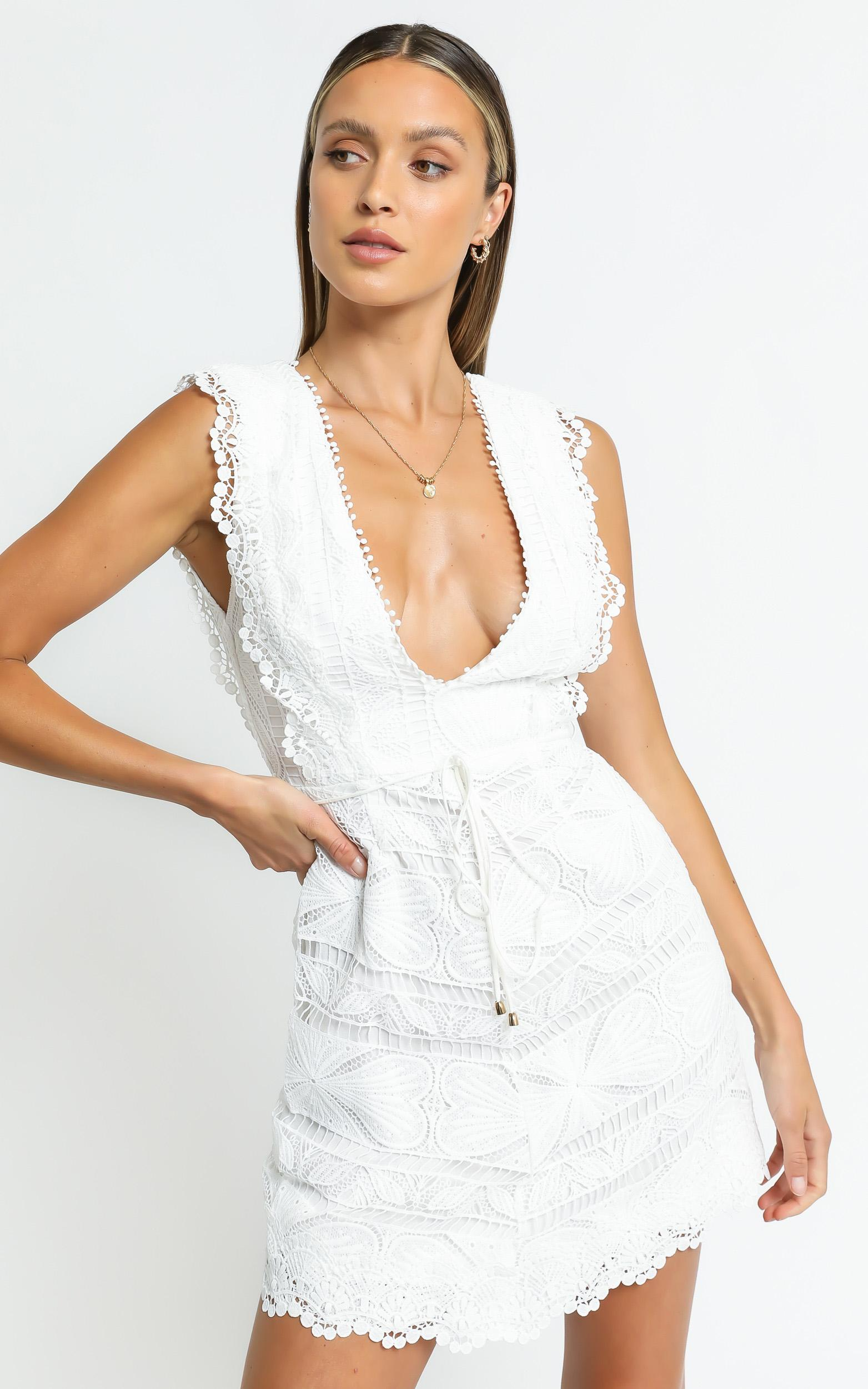 Lance Dress in White - 6 (XS), White, hi-res image number null