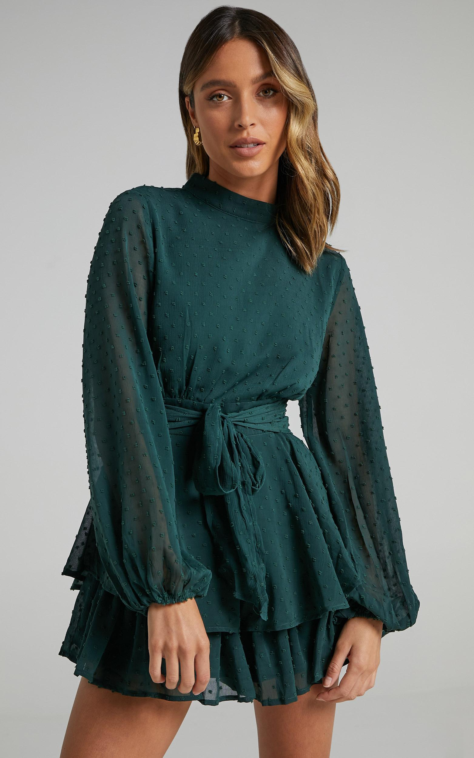Bottom Of Your Heart Playsuit In Emerald - 4 (XXS), GRN7, hi-res image number null