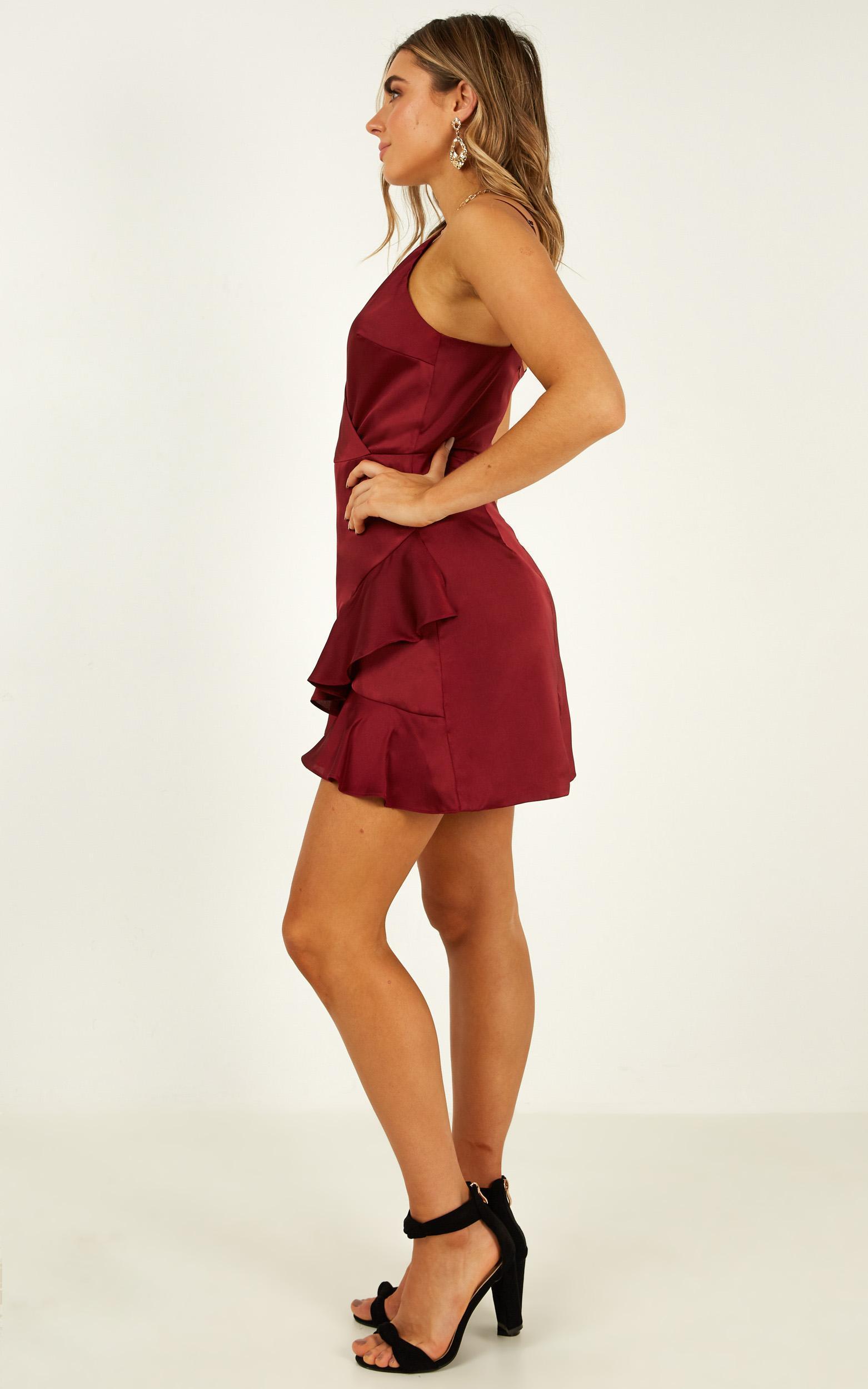 Cloud Cover Dress in wine satin - 20 (XXXXL), Wine, hi-res image number null