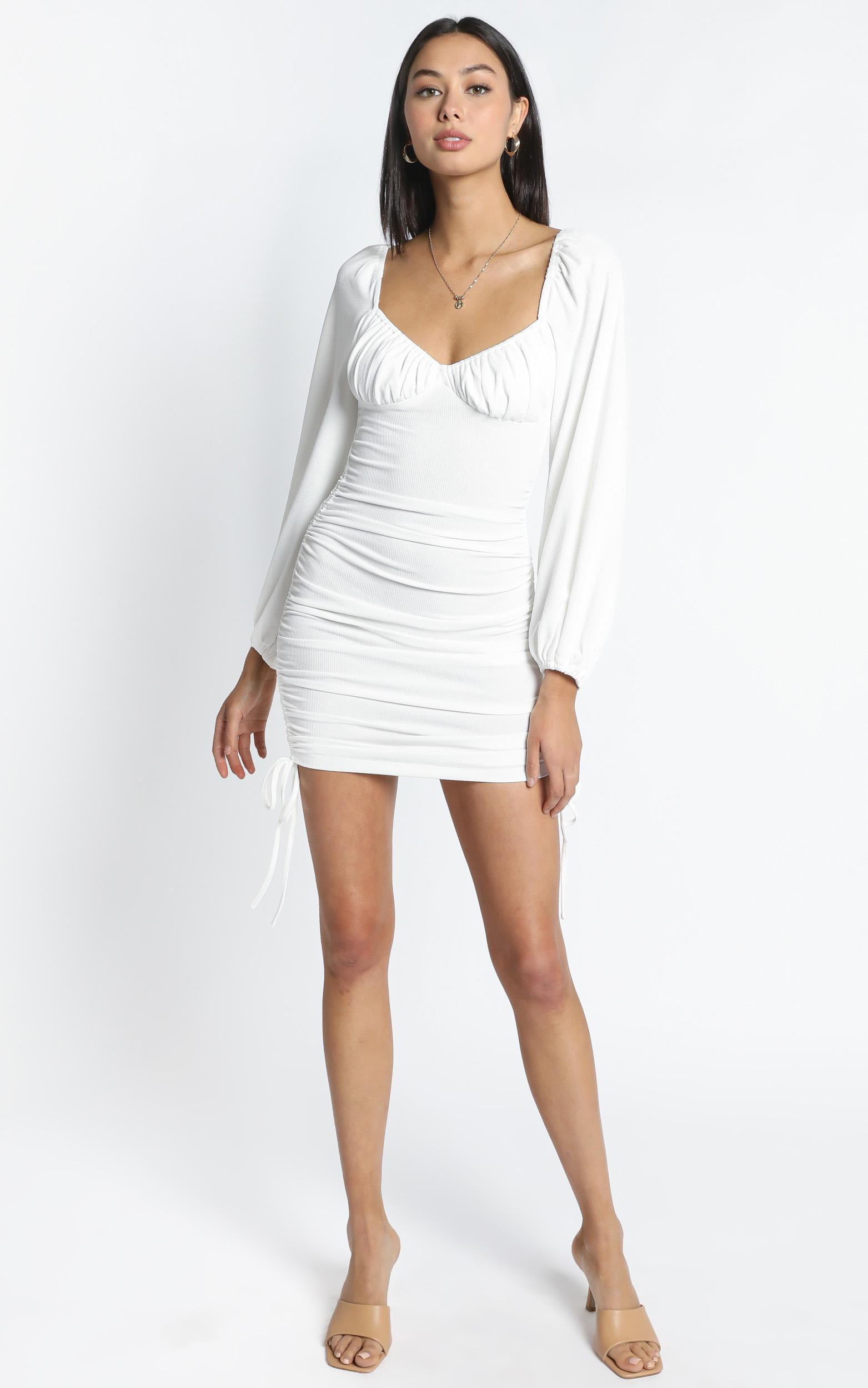 Harrington Dress in White - 14 (XL), WHT1, hi-res image number null
