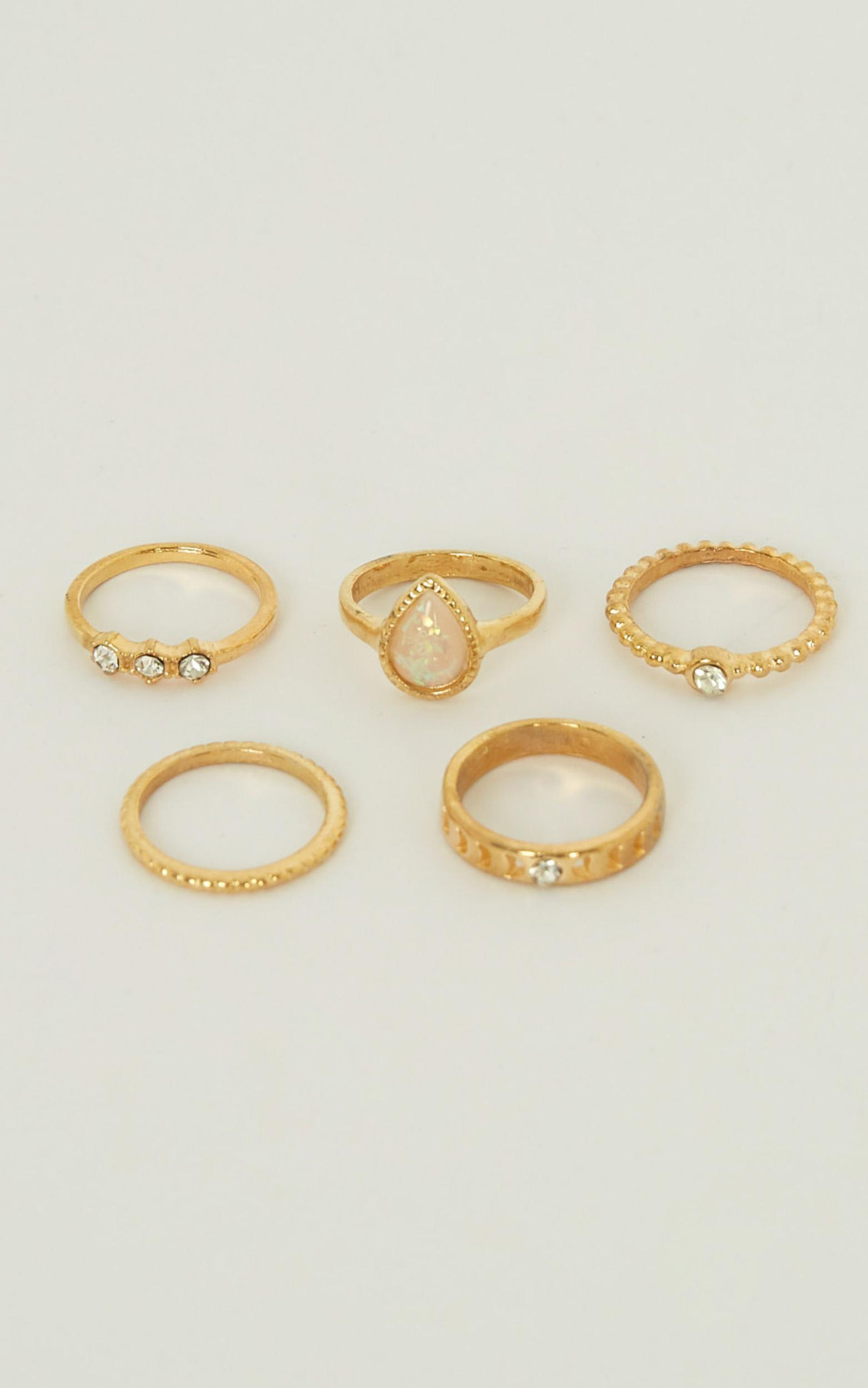 On Your Mind Ring Set In Gold, , hi-res image number null