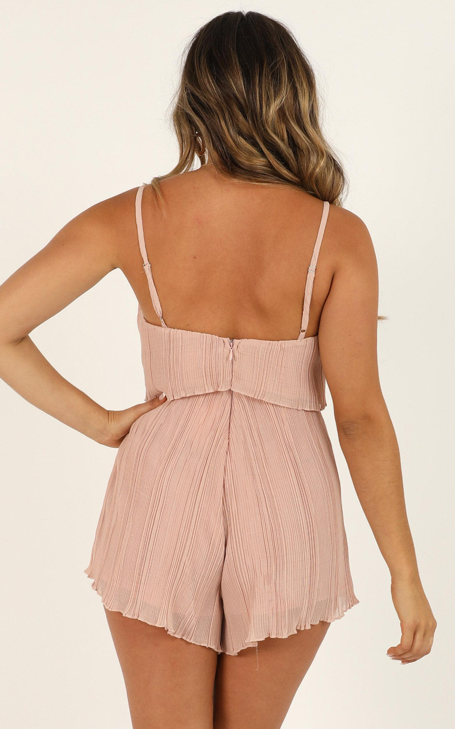 Got The Love For You Playsuit in blush pleat - 20 (XXXXL), Blush, hi-res image number null