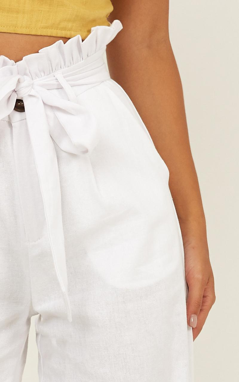 Make The Mission Pants in white linen look - 12 (L), White, hi-res image number null