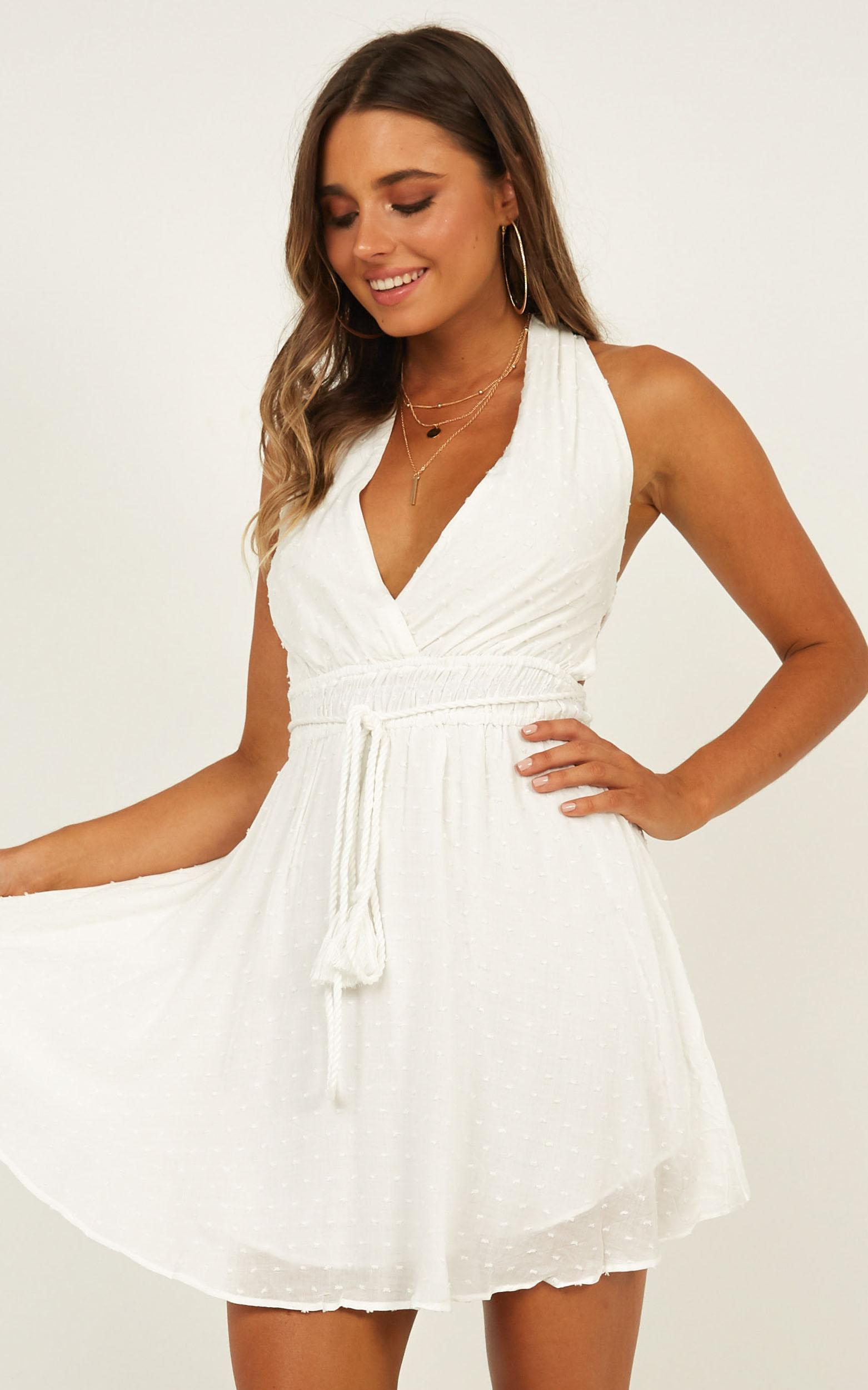 Gravitating To You dress in white - 12 (L), White, hi-res image number null