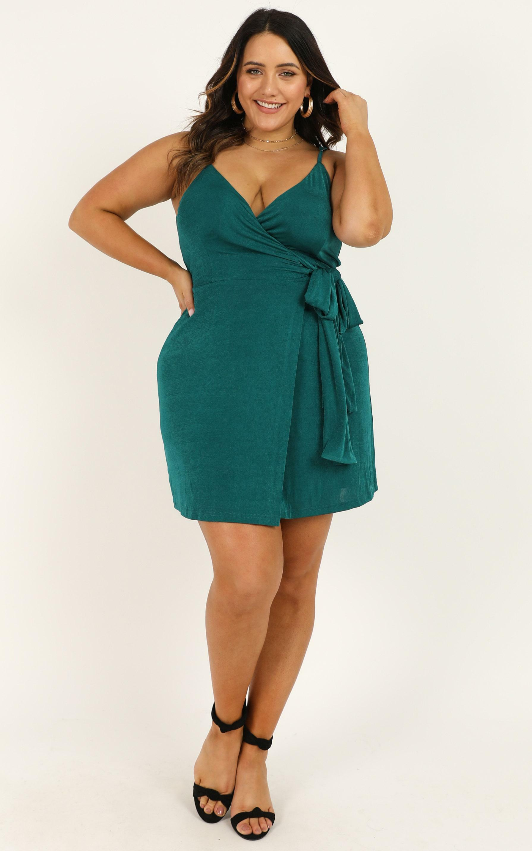 But I Got A Lot Of Style Dress in emerald - 20 (XXXXL), Green, hi-res image number null