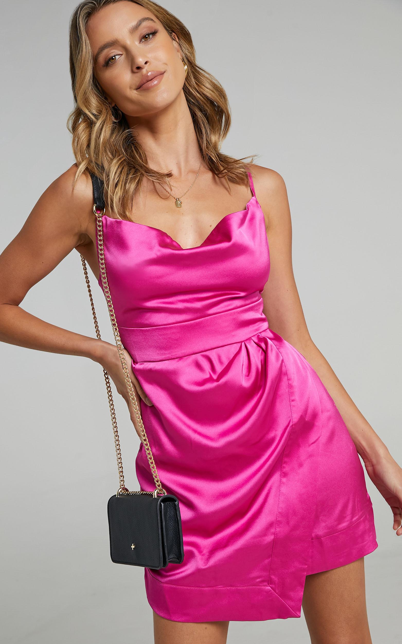 Naesa Dress in Pink Satin - 06, PNK1, hi-res image number null