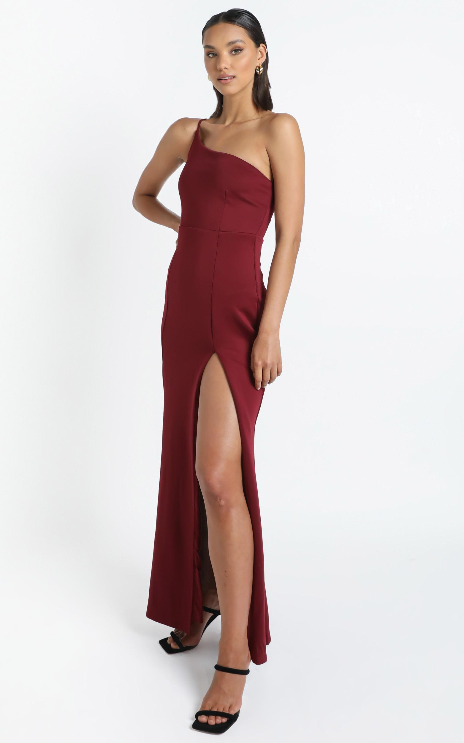 No Ones Fault Dress in wine - 20 (XXXXL), Wine, hi-res image number null