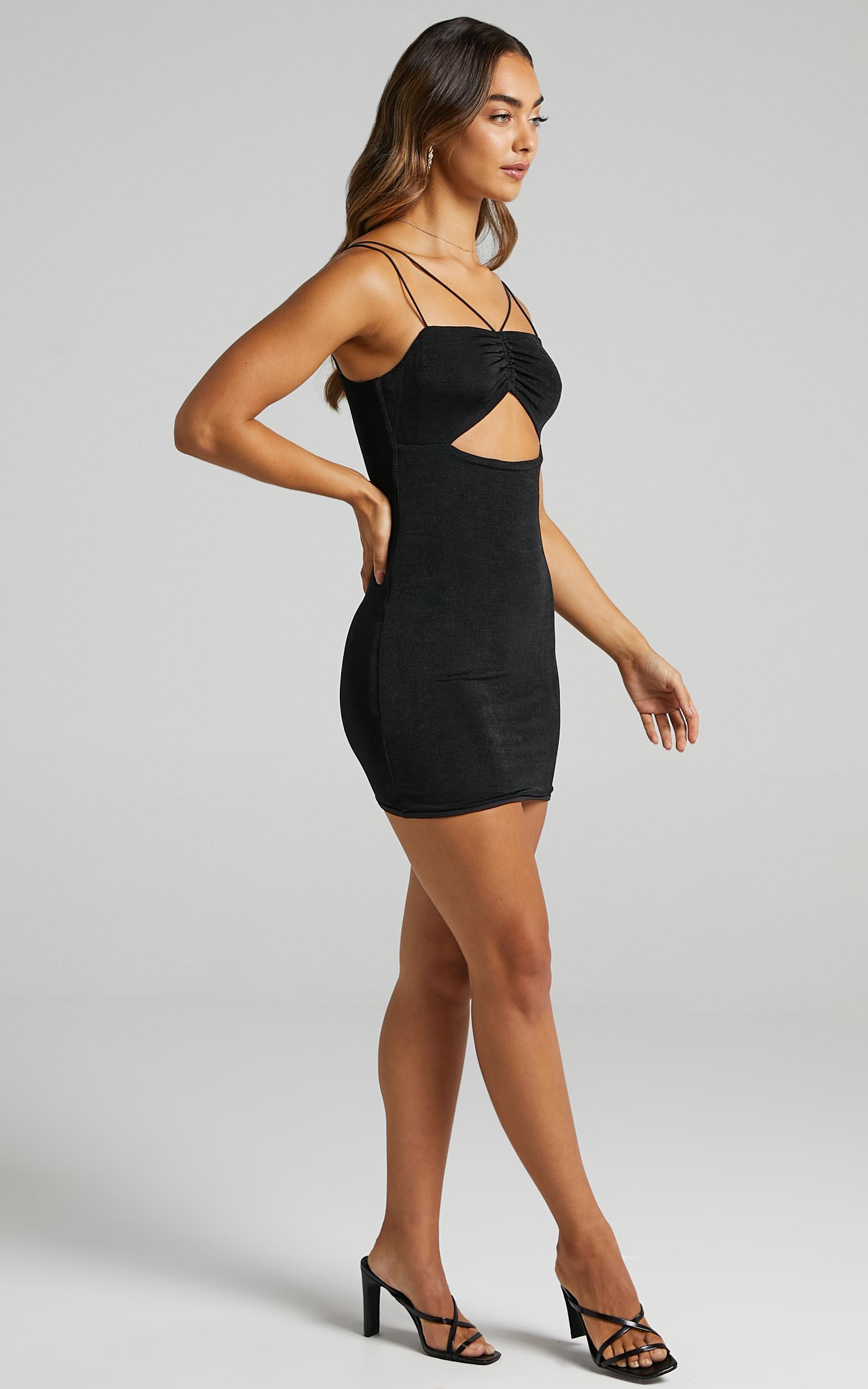 Rois Dress in Black - 6 (XS), Black, hi-res image number null
