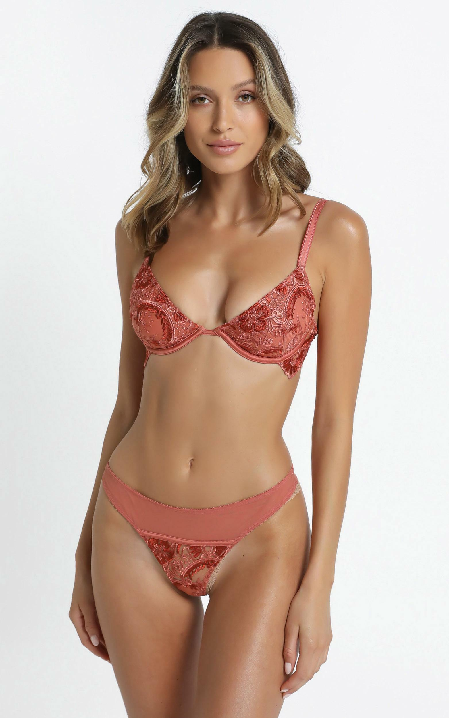 Kat The Label - Penelope Thong in Tangerine - XS, ORG2, hi-res image number null