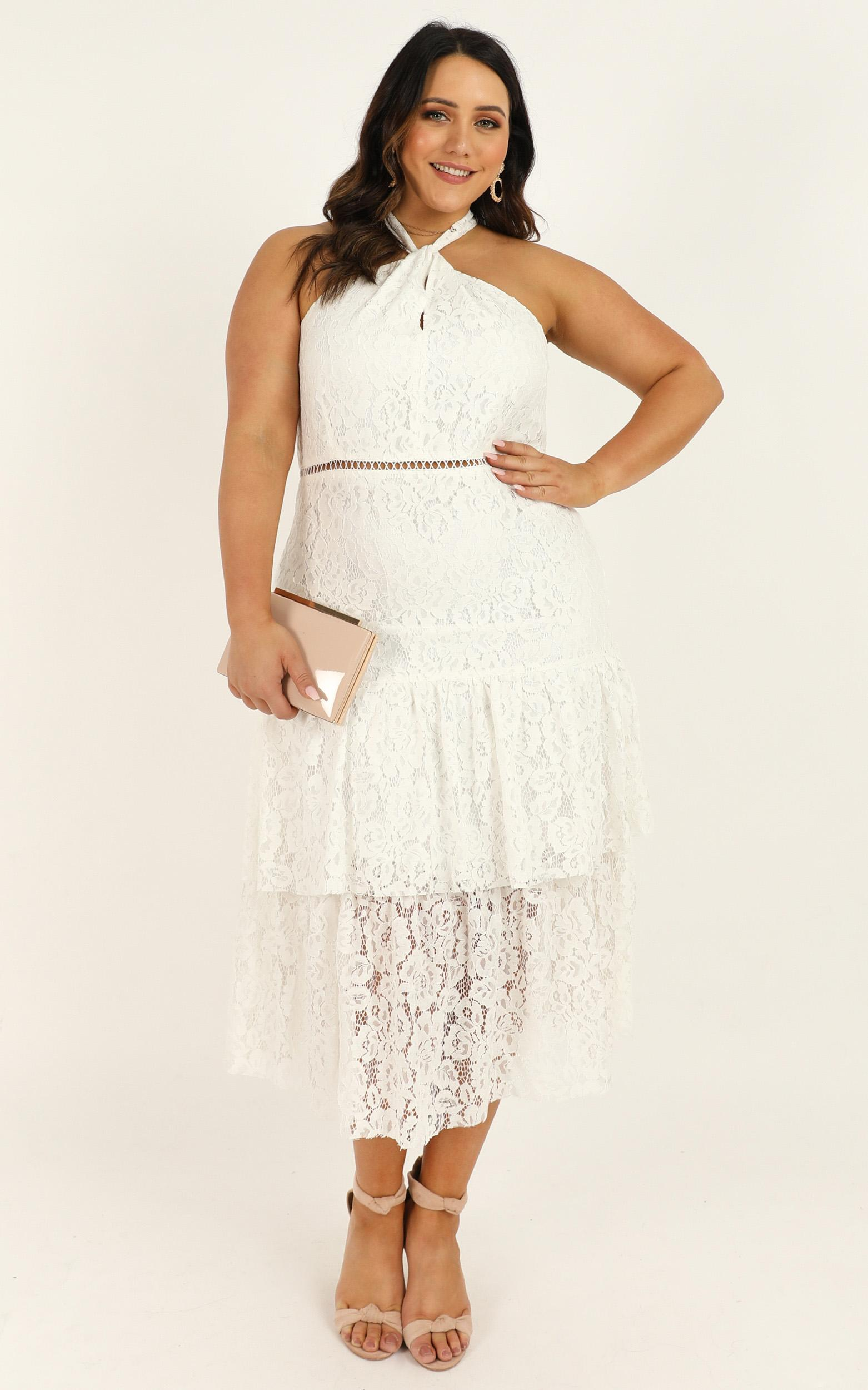 Whats The Tea Dress in white lace - 20 (XXXXL), White, hi-res image number null