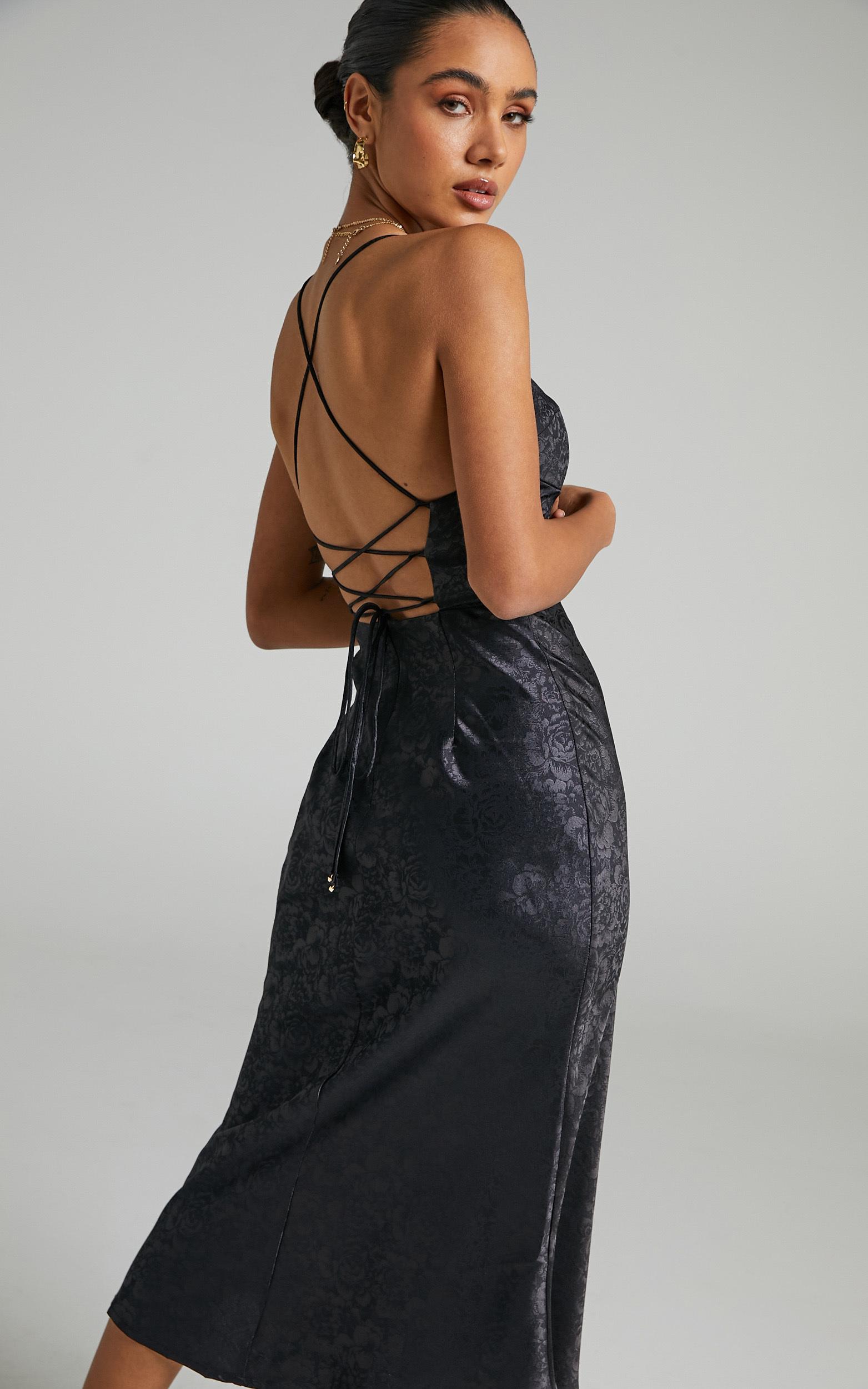 Runaway The Label - Electra Slip Dress in Black - L, BLK1, hi-res image number null