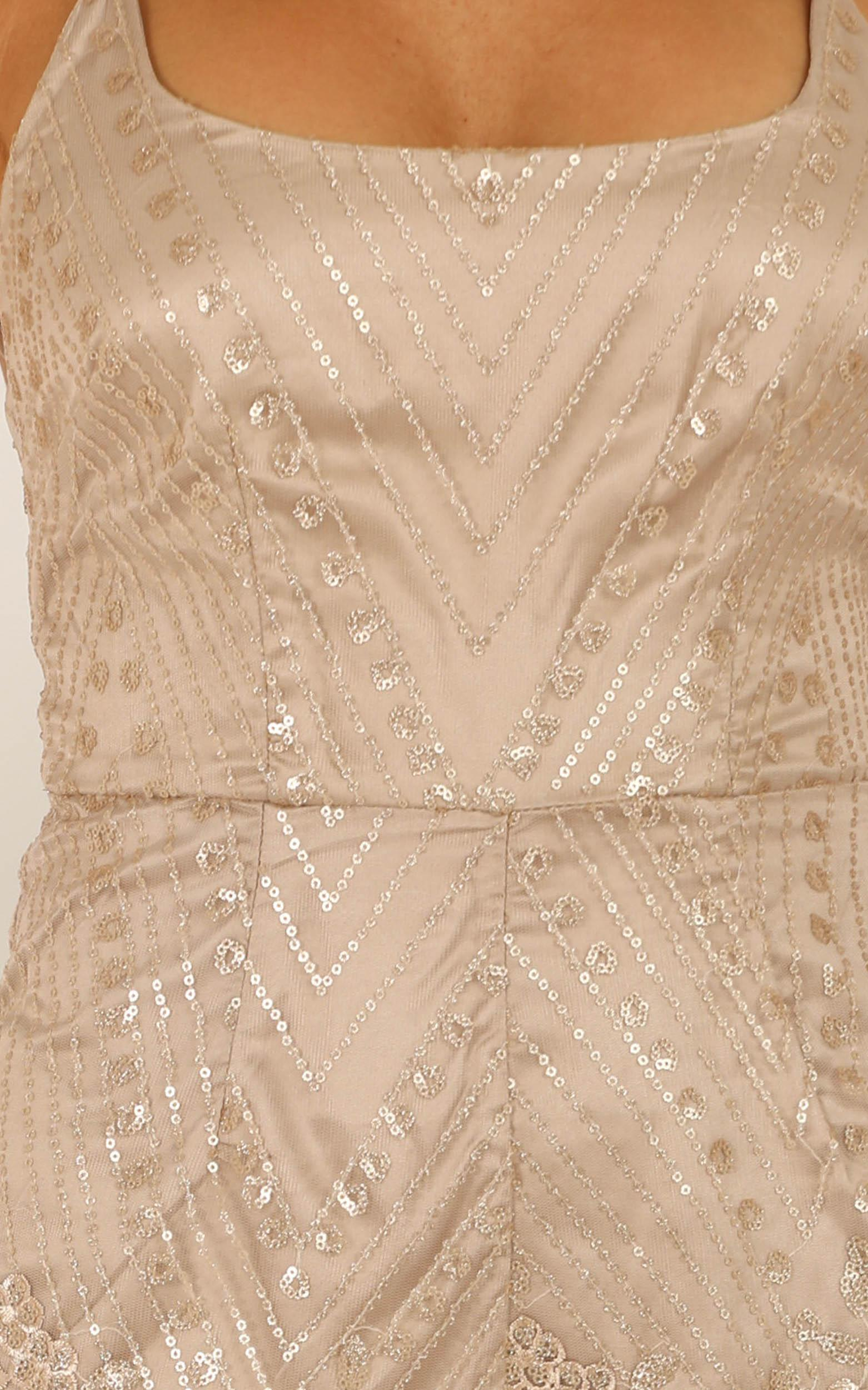 The Last Time playsuit in gold - 12 (L), Gold, hi-res image number null