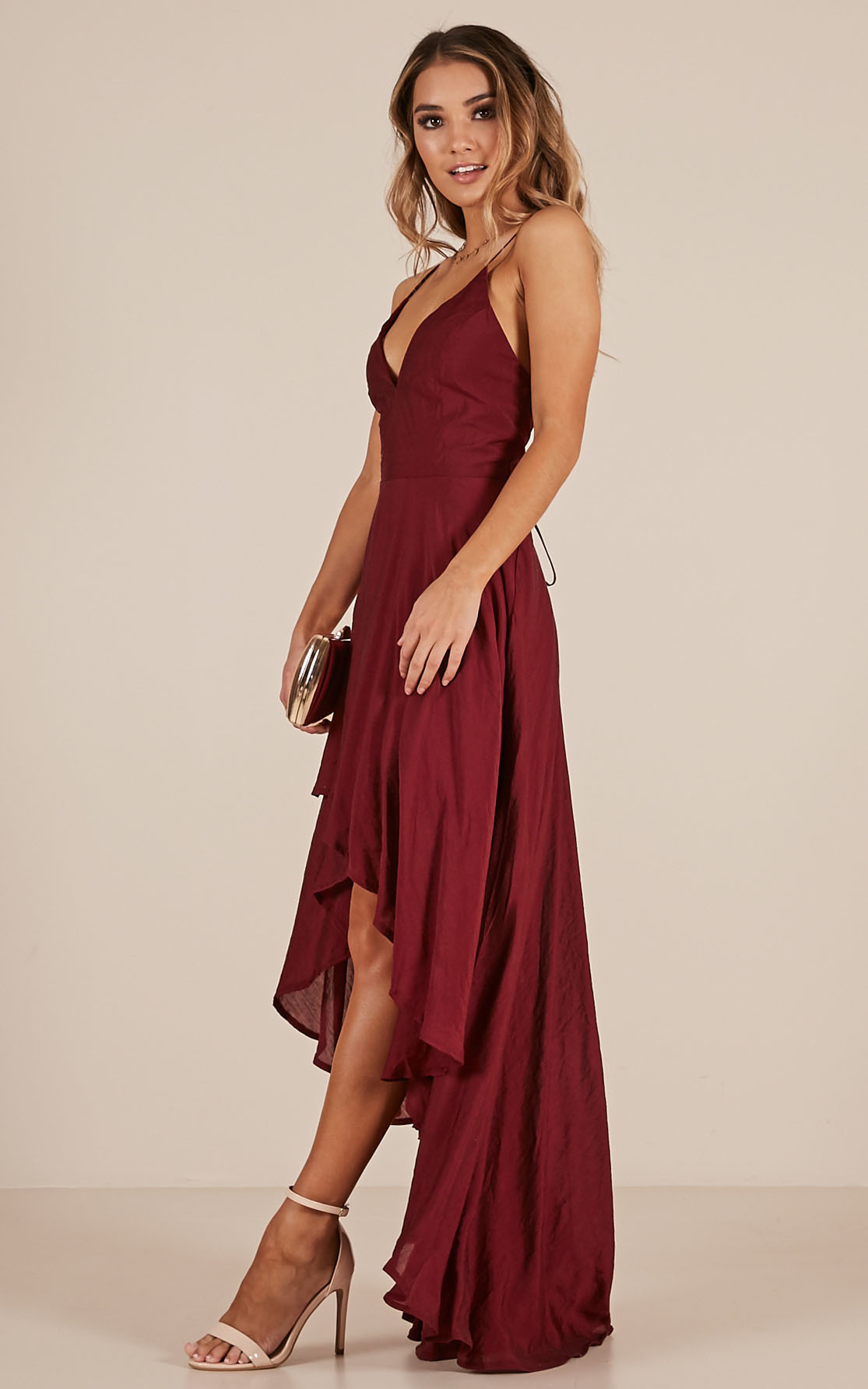Make You Smile dress in wine - 6 (XS), Wine, hi-res image number null