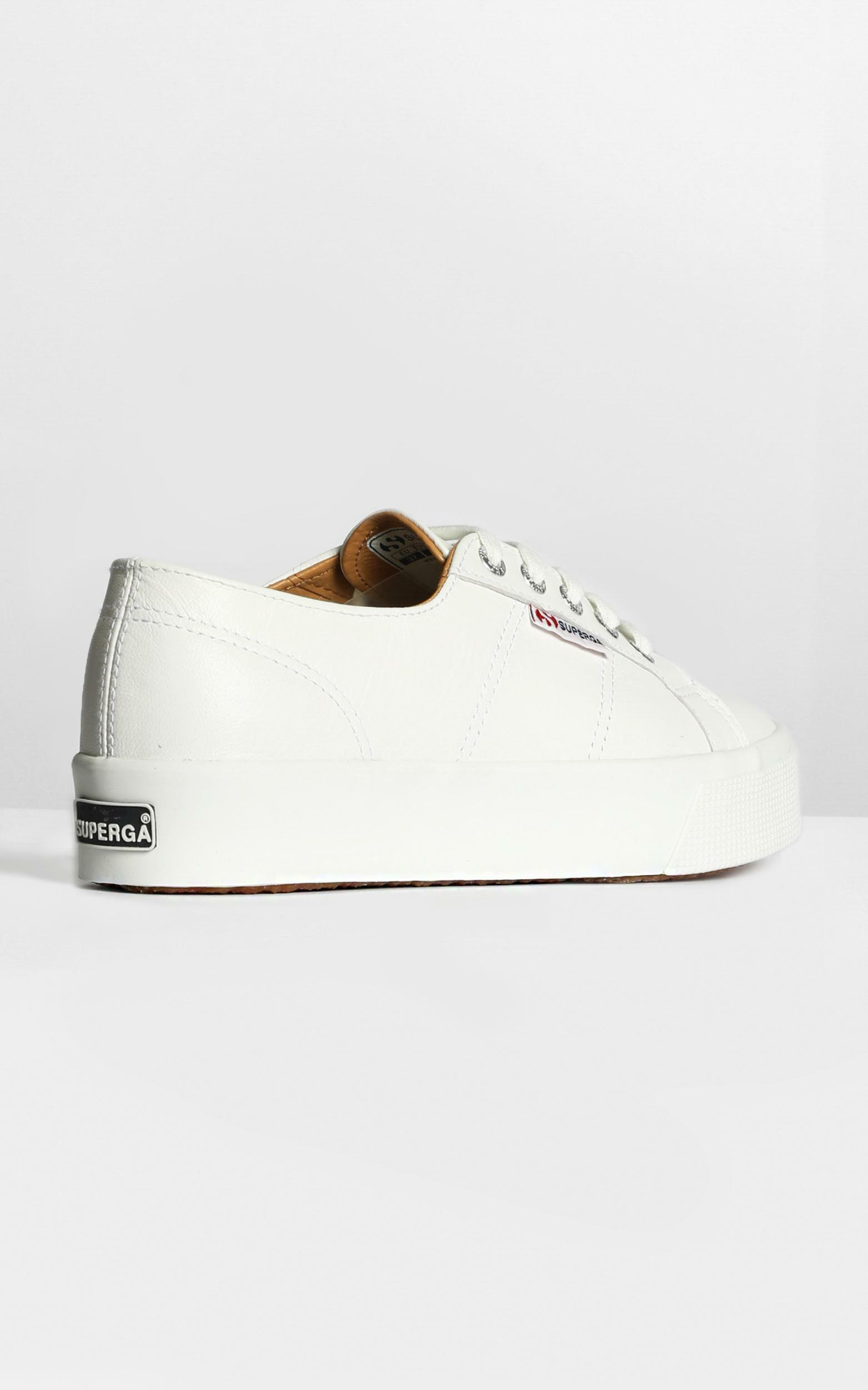 Superga - 2730 Nappaleau Sneakers in white leather - 6, WHT1, hi-res image number null