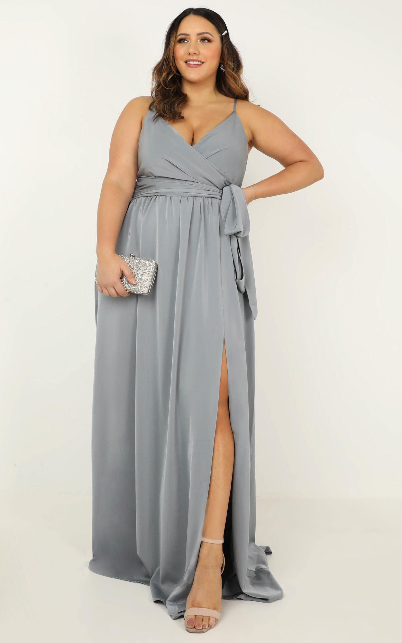 Revolve Around Me dress in dusty blue - 20 (XXXXL), Blue, hi-res image number null