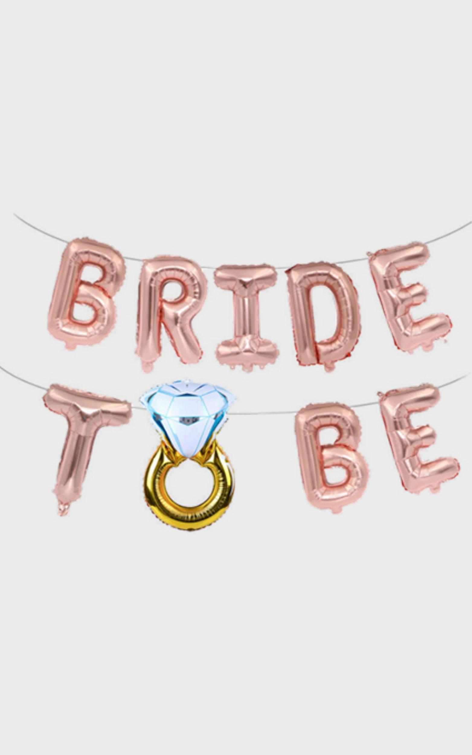 Bride To Be Balloon Banner , , hi-res image number null