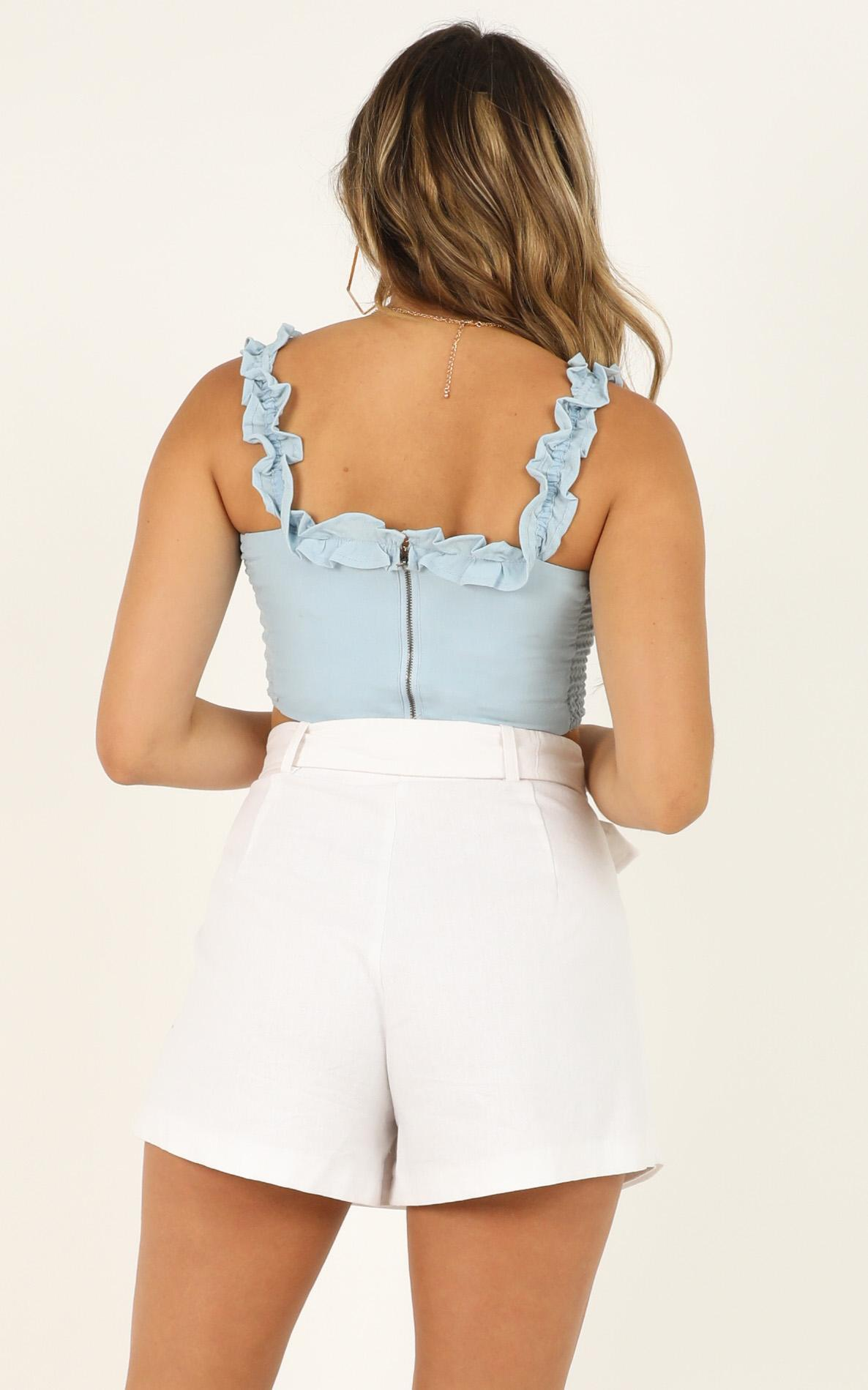 A Little Piece of Heaven top in pale blue - 12 (L), Blue, hi-res image number null