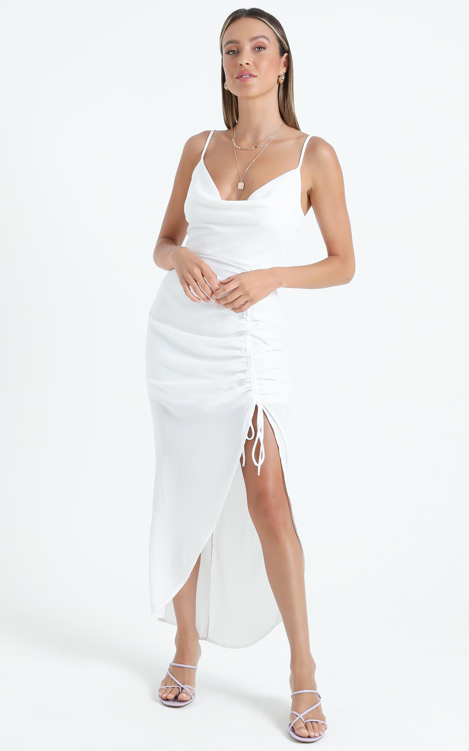 Shelley Dress in White - 6 (XS), White, hi-res image number null