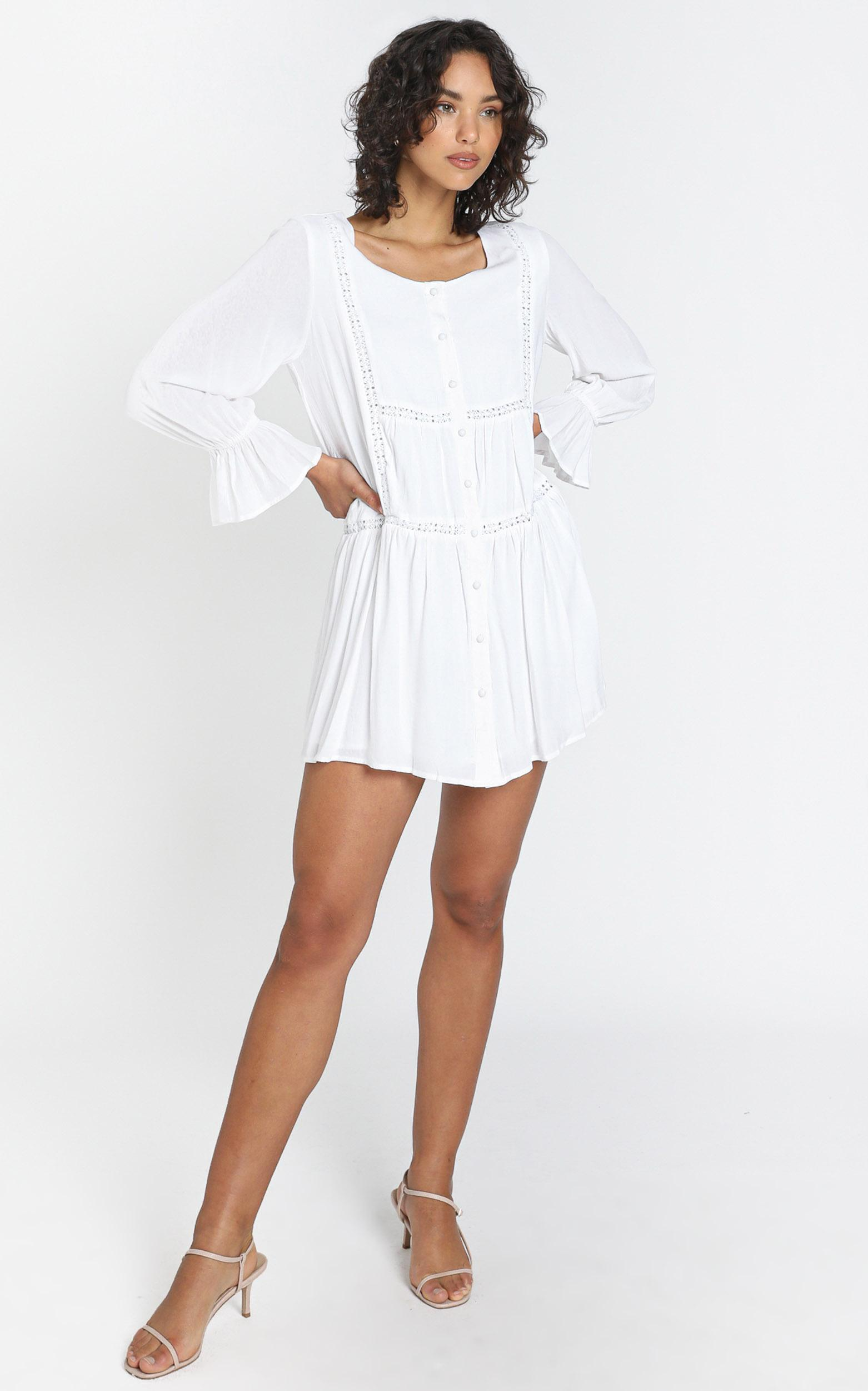 Eleonora Dress in White - 6 (XS), White, hi-res image number null