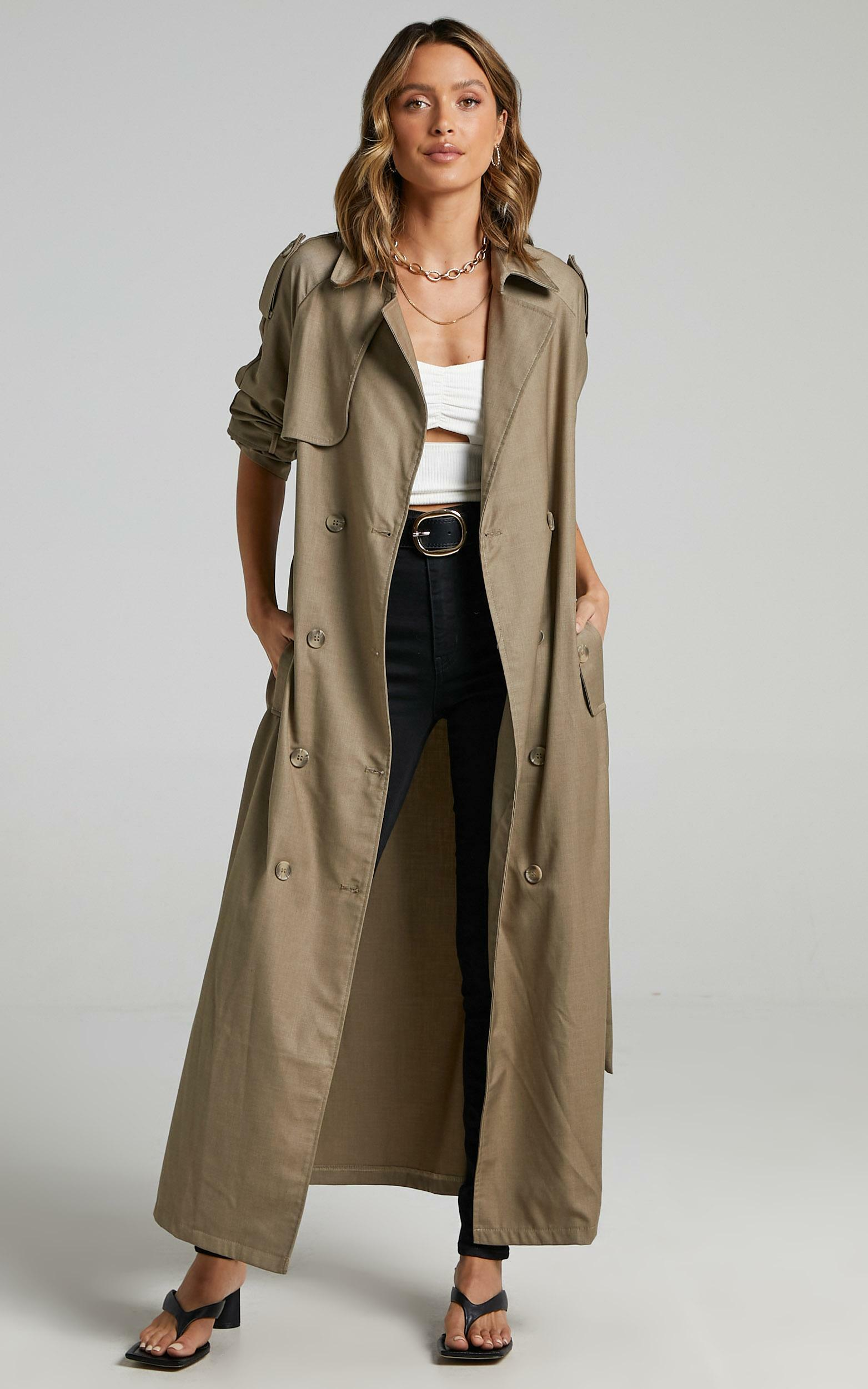 Lioness - Treacherous Long Coat in Beige - 12 (L), Beige, hi-res image number null