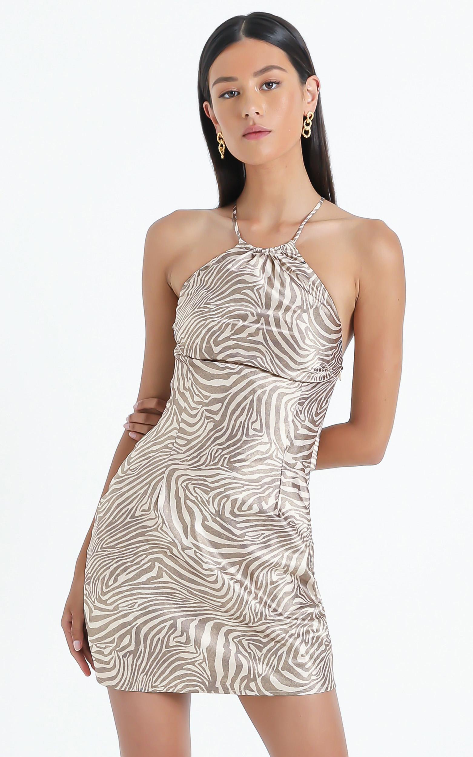Odine Dress in Zebra - 6 (XS), BLK1, hi-res image number null