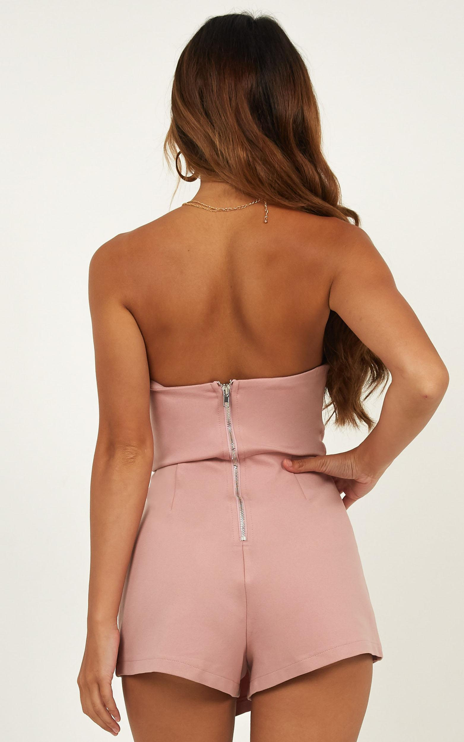 Caught My Eyes playsuit in Blush - 4 (XXS), Blue, hi-res image number null
